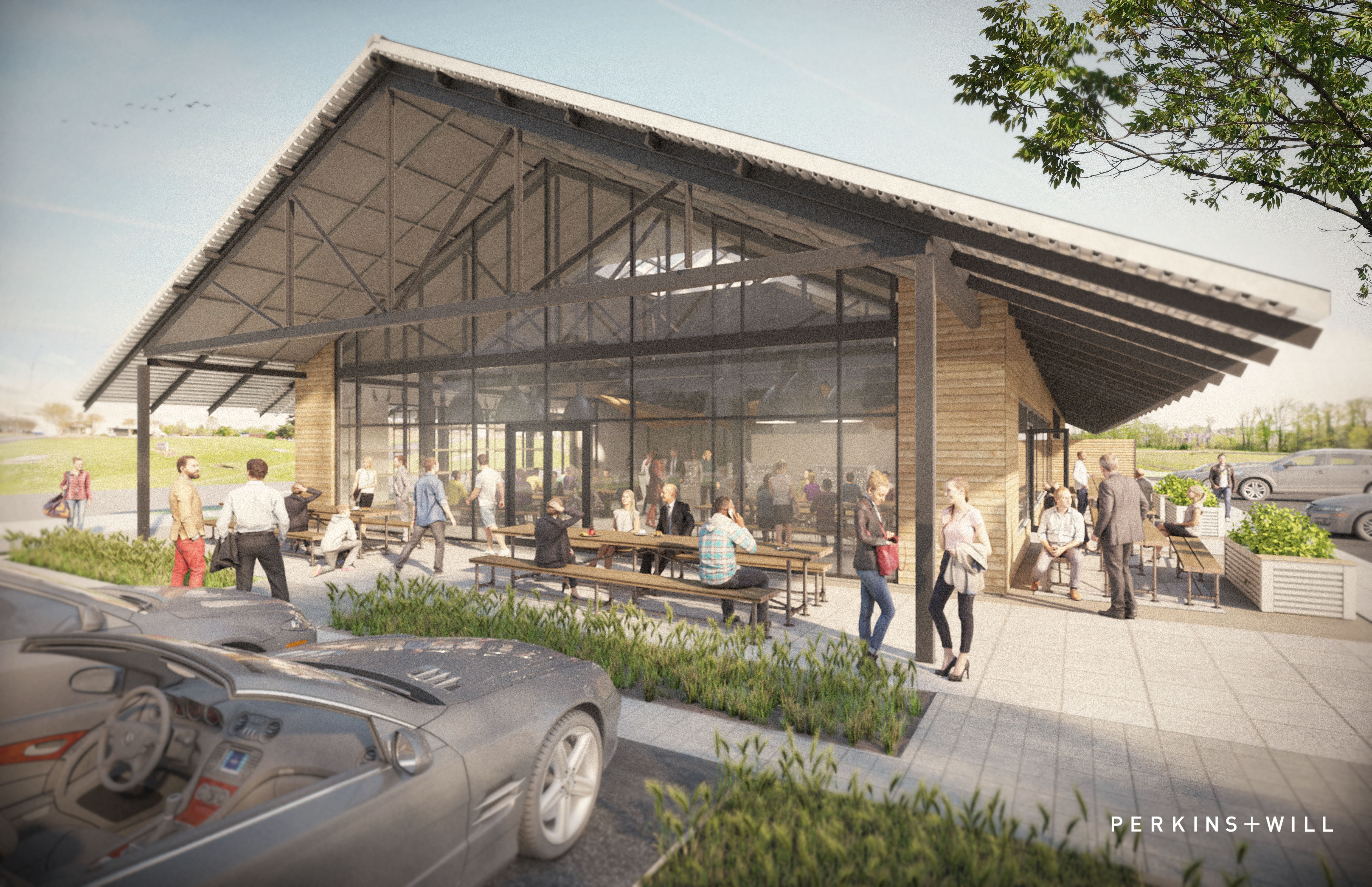 A rendering of the new home for Star Provisions and Bacchanalia.