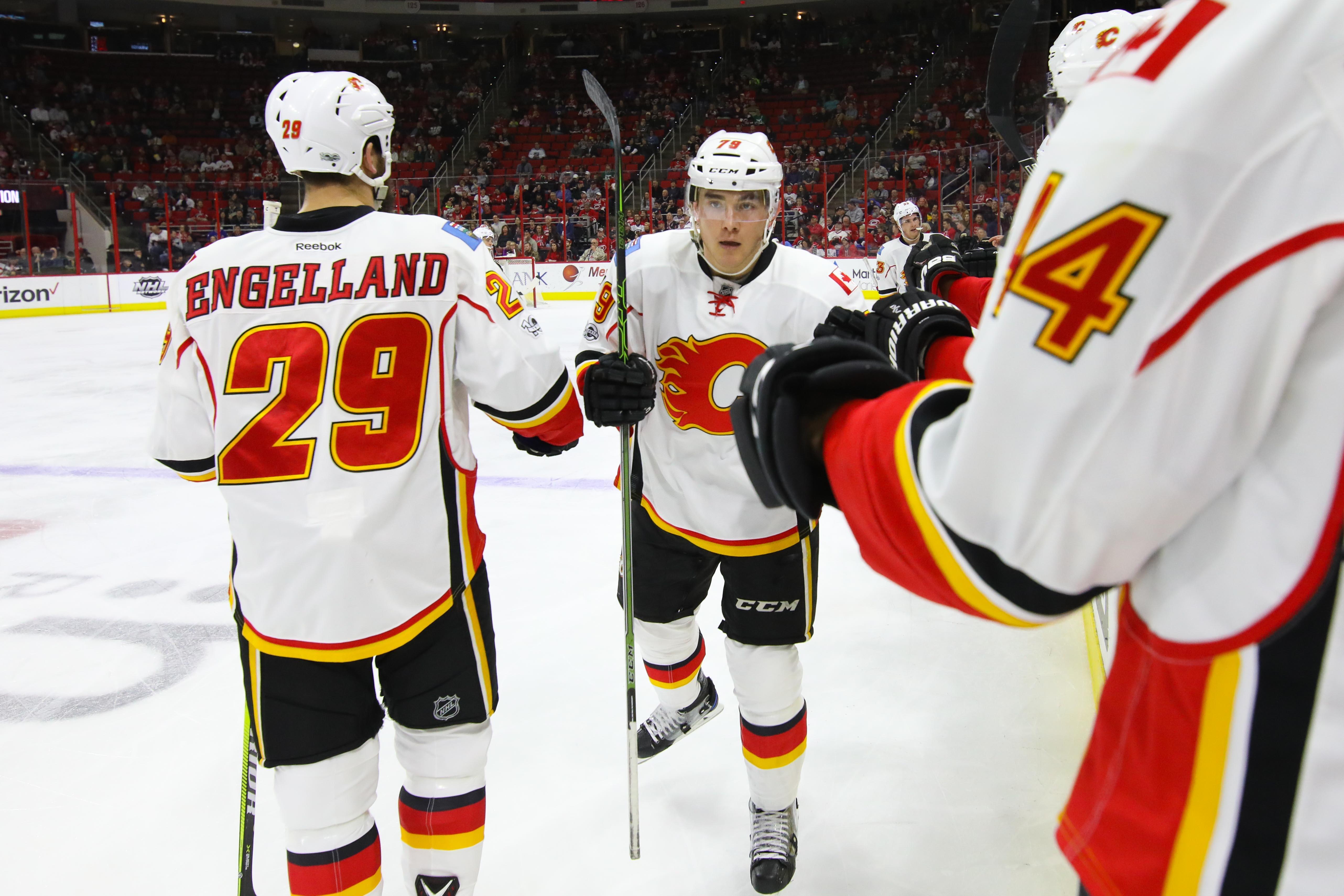NHL: Calgary Flames at Carolina Hurricanes