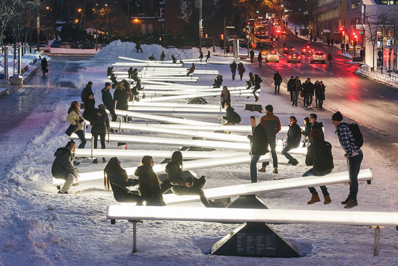 Take a spin on these 15 light-up musical seesaws headed to Navy Pier next week