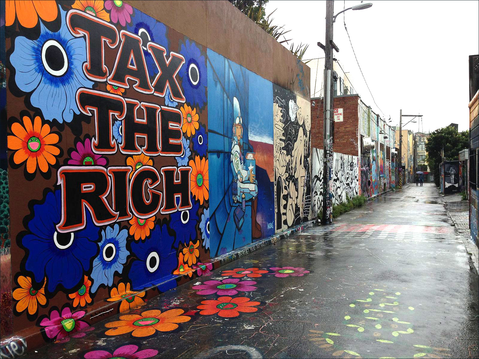 """A mural in Clarion Alley that declares """"Tax The Rich."""""""
