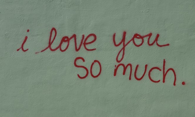 """""""I Love You So Much"""" mural at Jo's Coffee"""