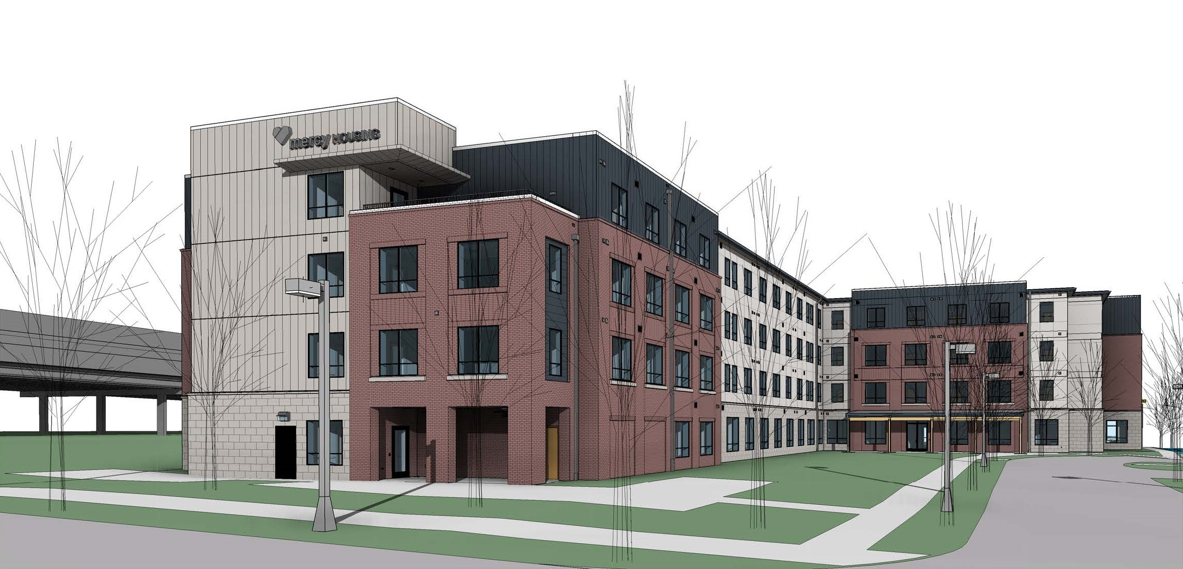 A new affordable housing project in Chamblee, just north of Atlanta.