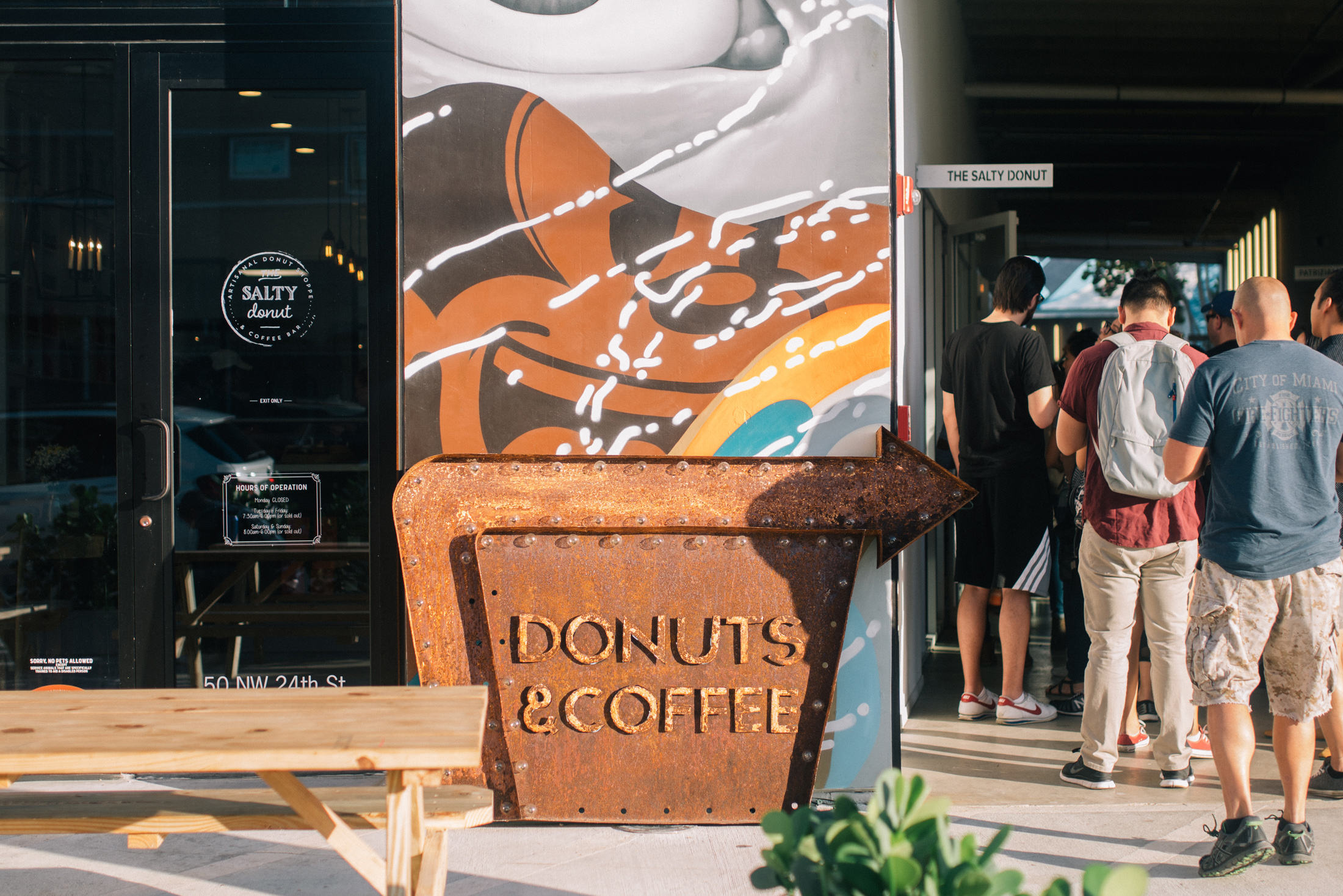 Outside The Salty Donut in Wynwood