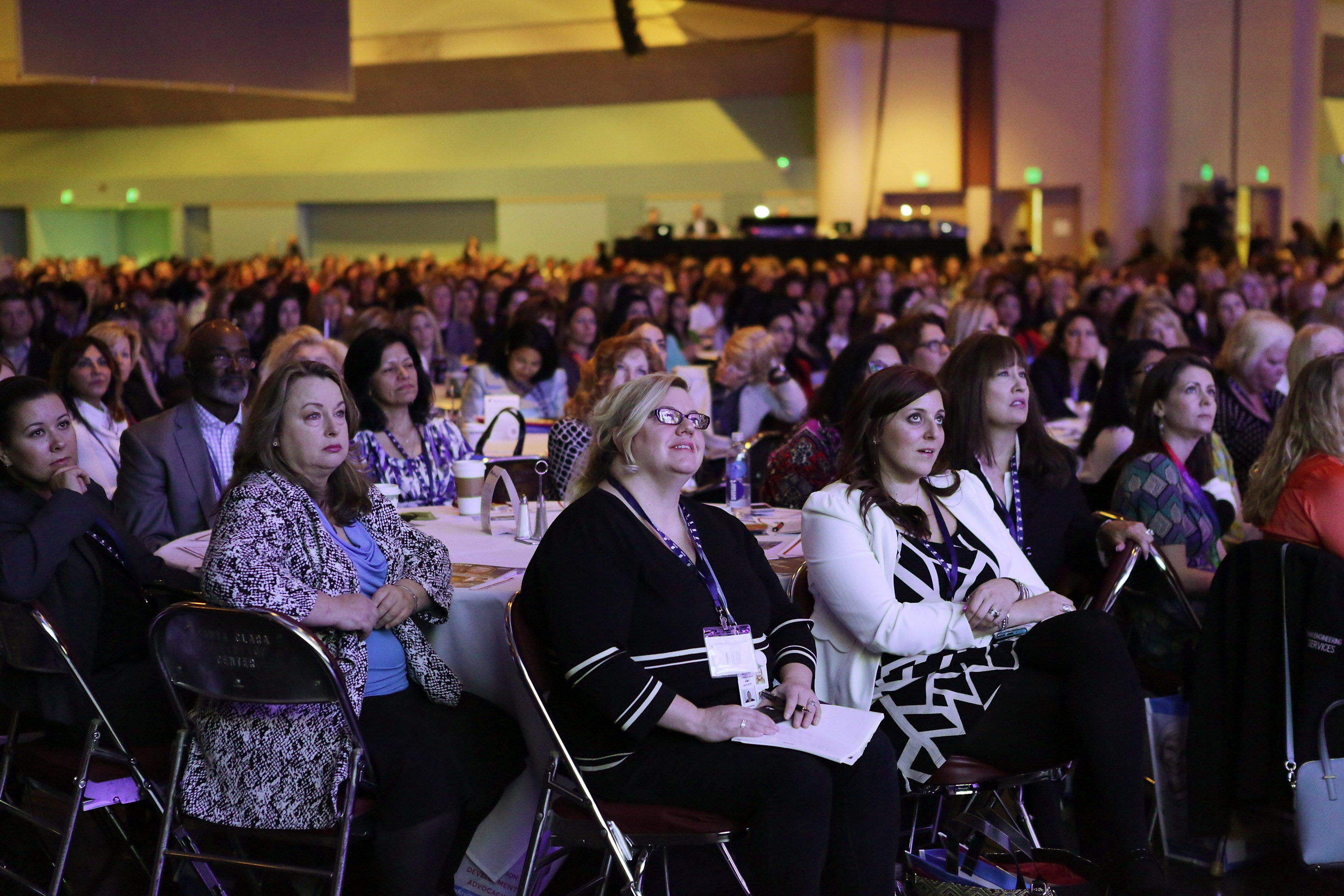 Crowd at Lead On Watermark Silicon Valley Conference for Women at Santa Clara Convention Center on February 24, 2015.