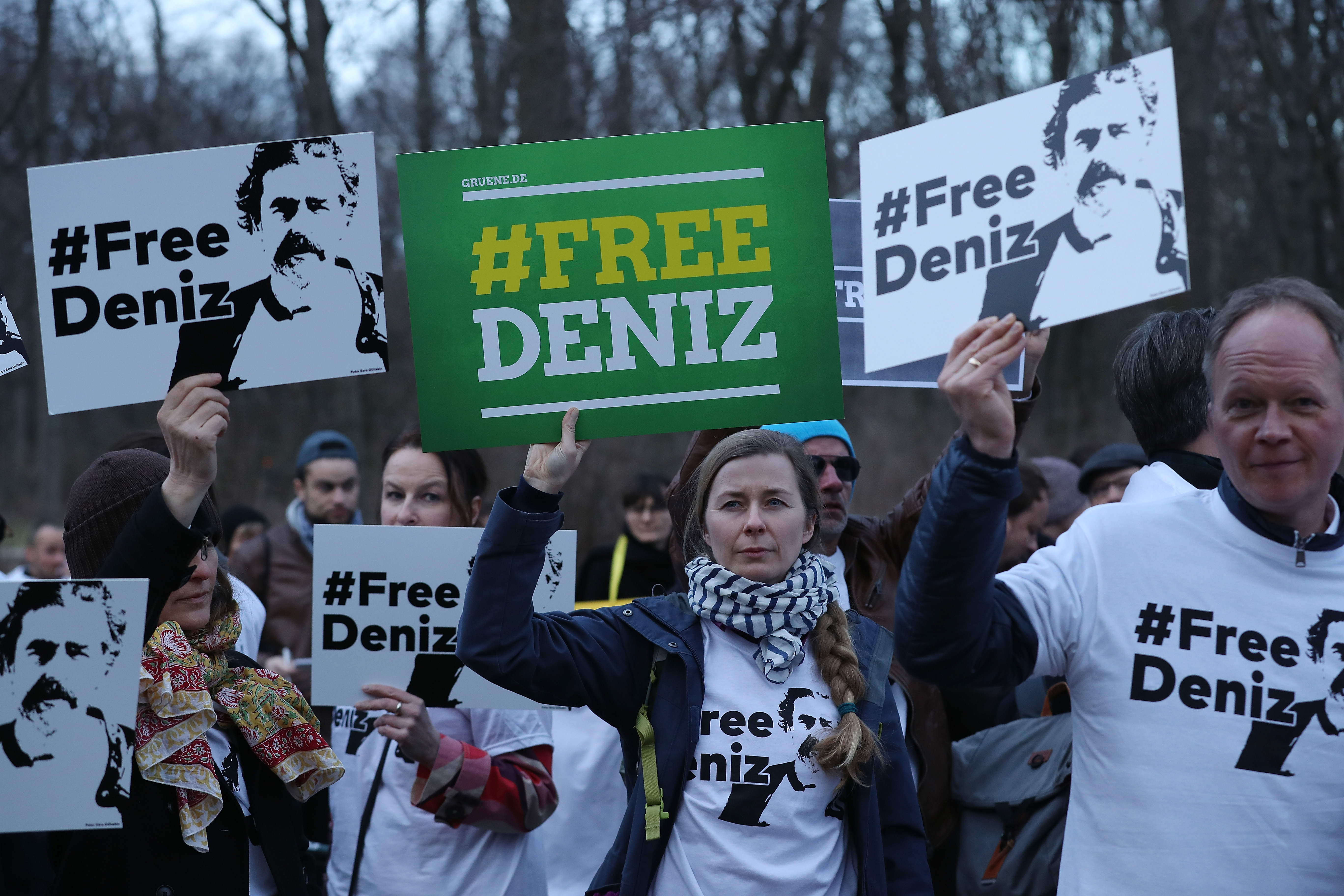 Protesters Demand Freedom For Jailed German Journalist In Turkey