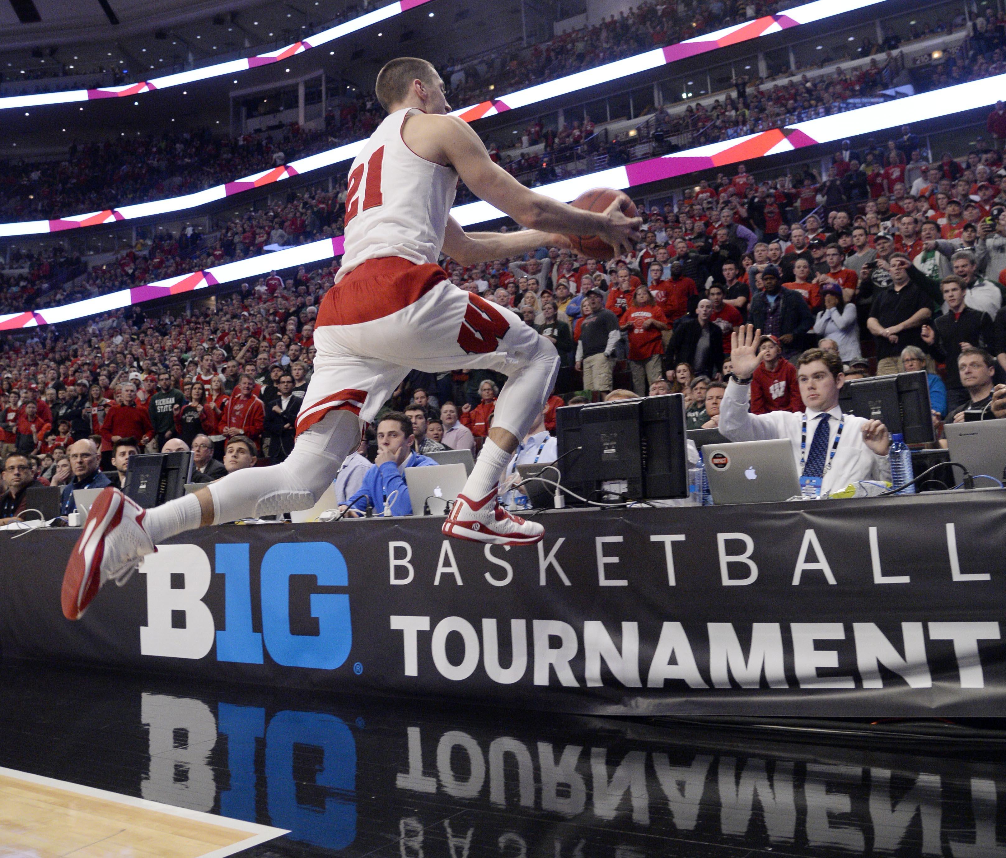 NCAA Basketball: Big Ten Conference Tournament-Wisconsin vs Michigan State
