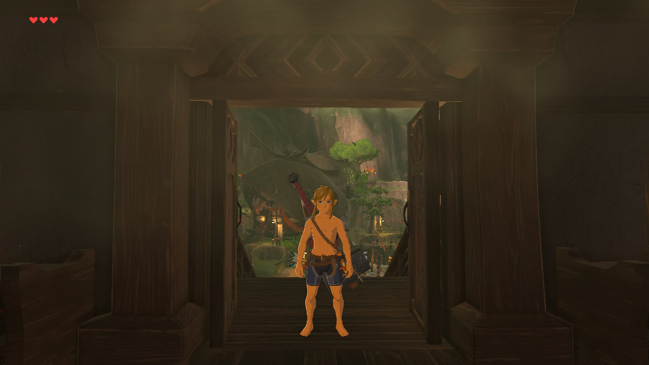 Zelda: Breath of the Wild definitely reacts when you play naked