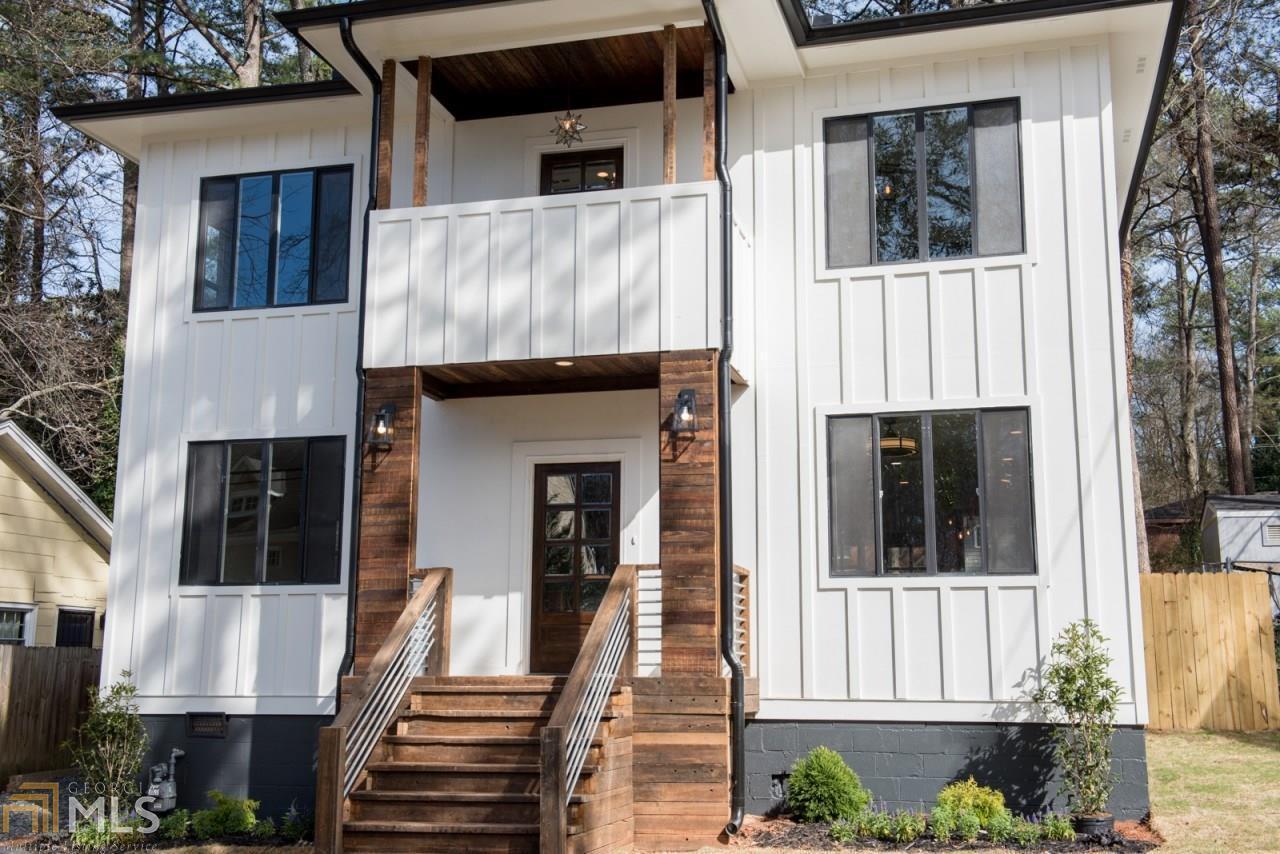 A modern farmhouse-style home in East Lake, Atlanta.