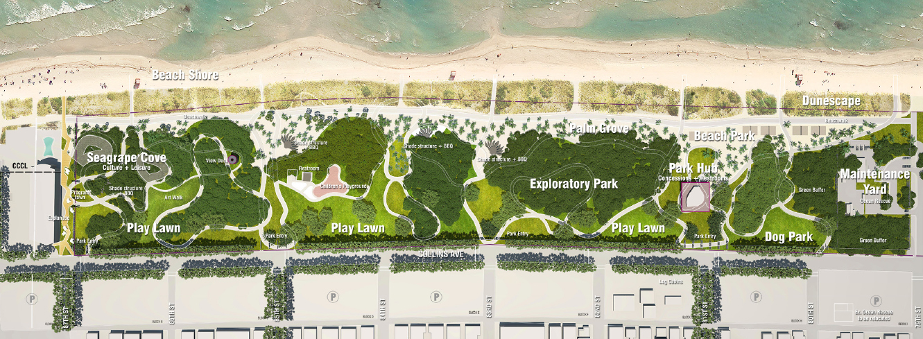 Rendering of North Shore Open Space Park