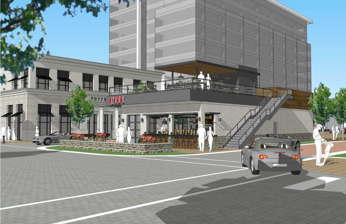 A rendering for Barleygarden Kitchen and Craft Bar.