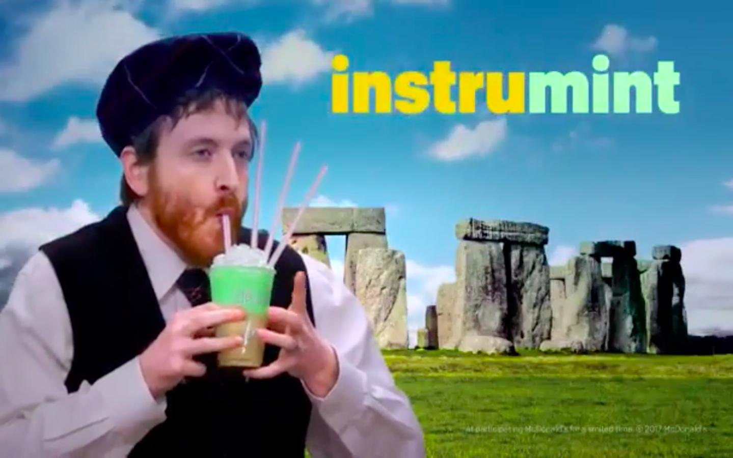 An image from the McDonald's Irish video.