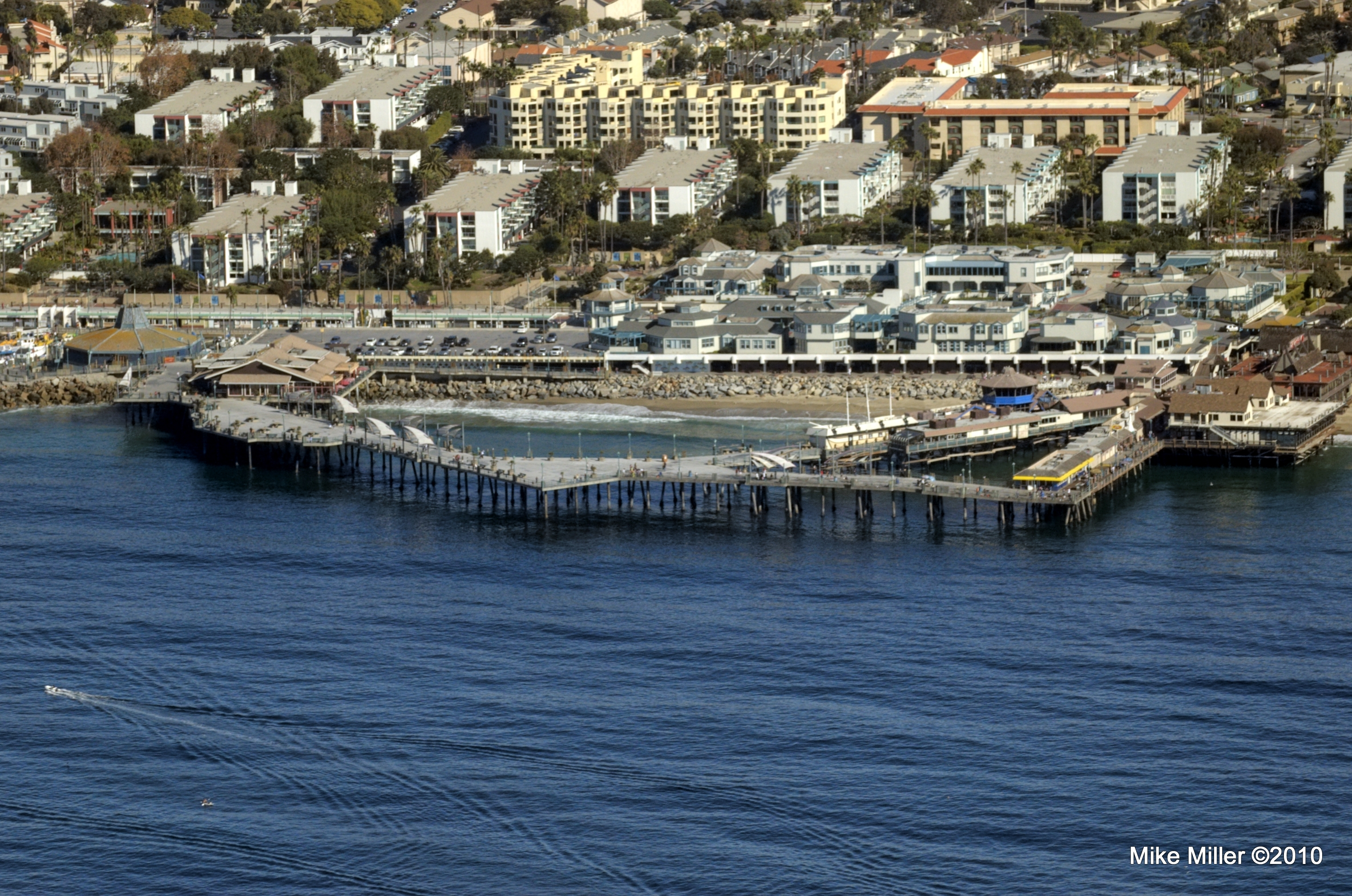 Redondo Beach pier from above