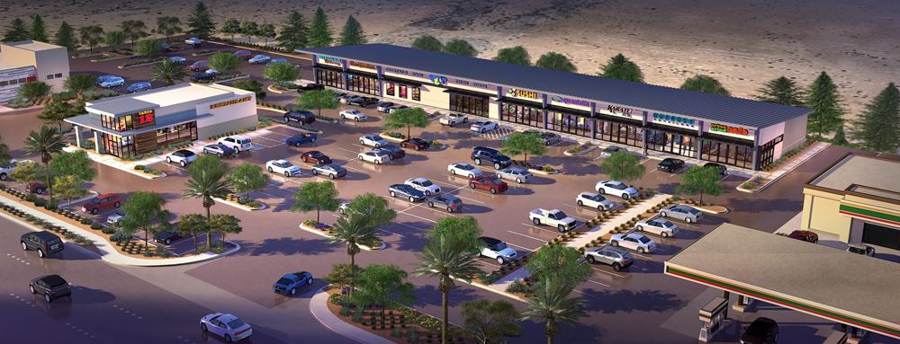 Rendering Buffalo & Warm Springs retail center