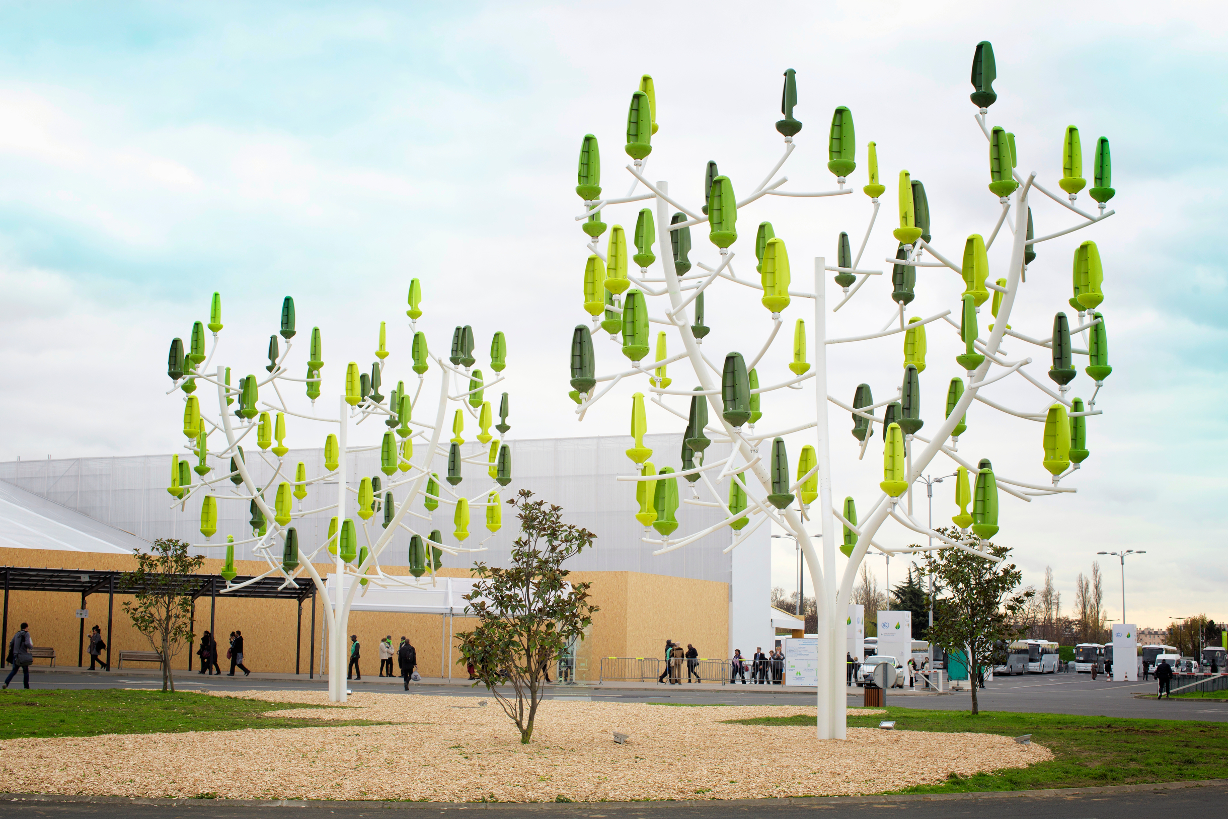 Urban 'Wind Trees' generate electricity from breezes
