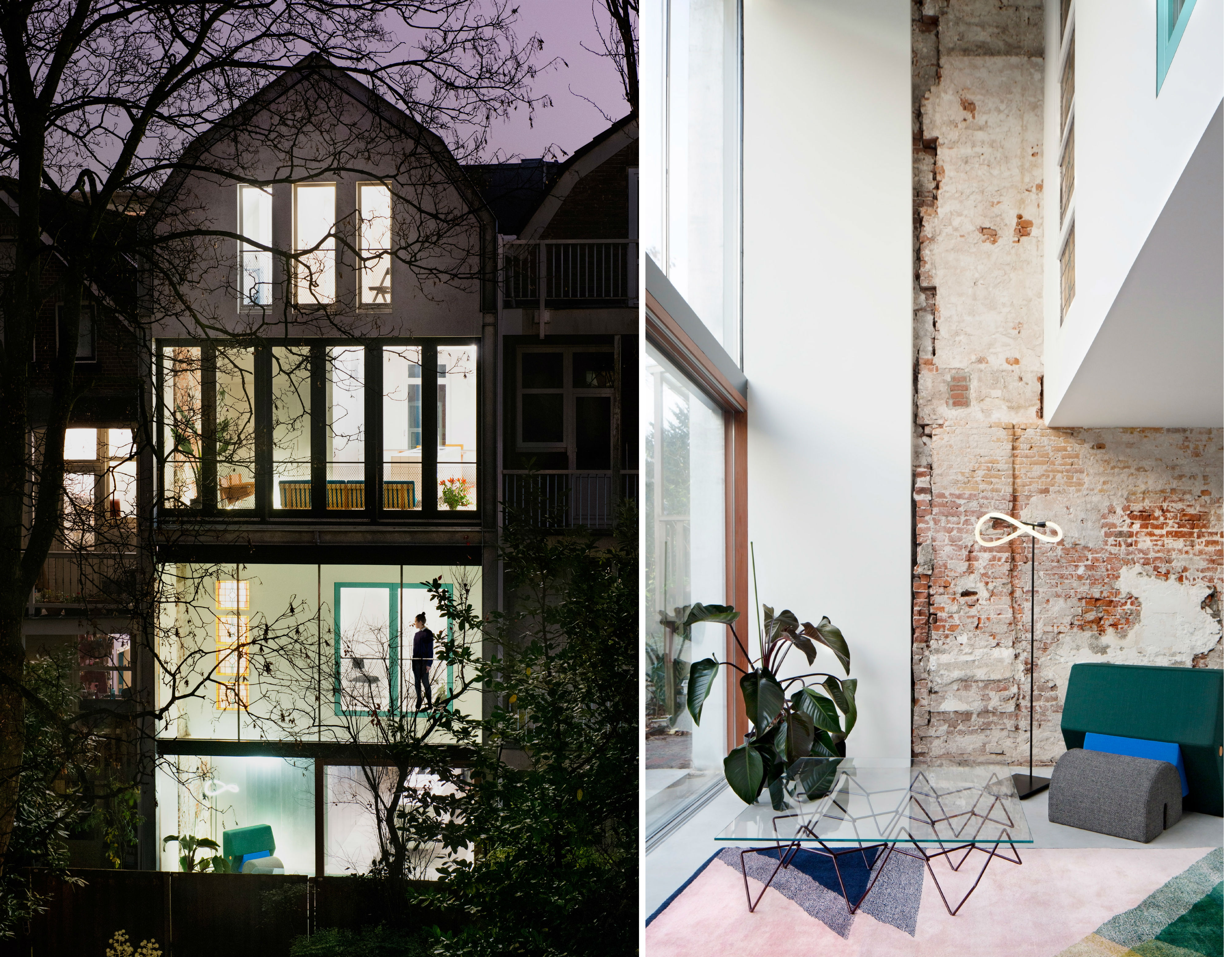 1900s Rotterdam house, once run-down, becomes two sleek apartments