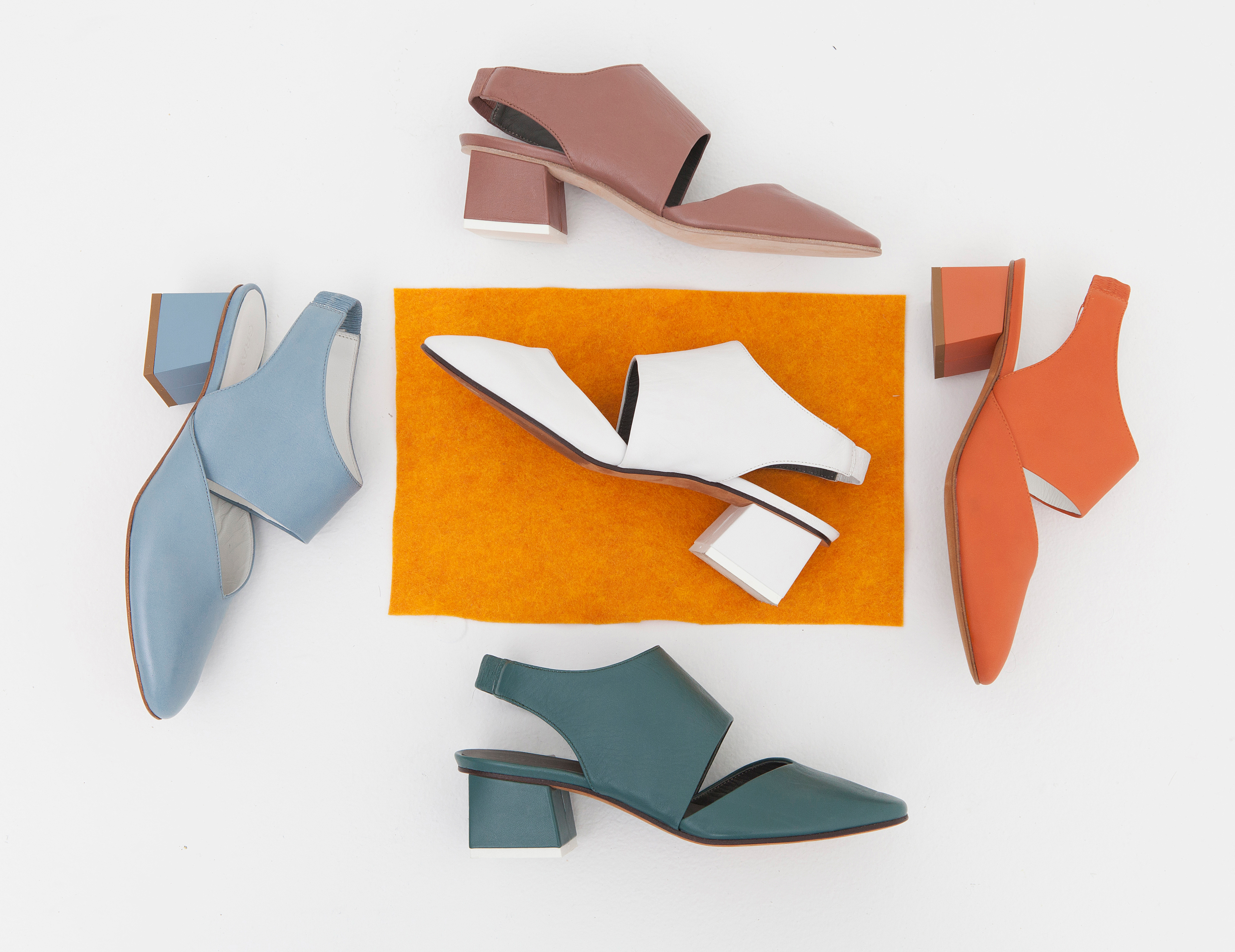 Sandals in muted colors