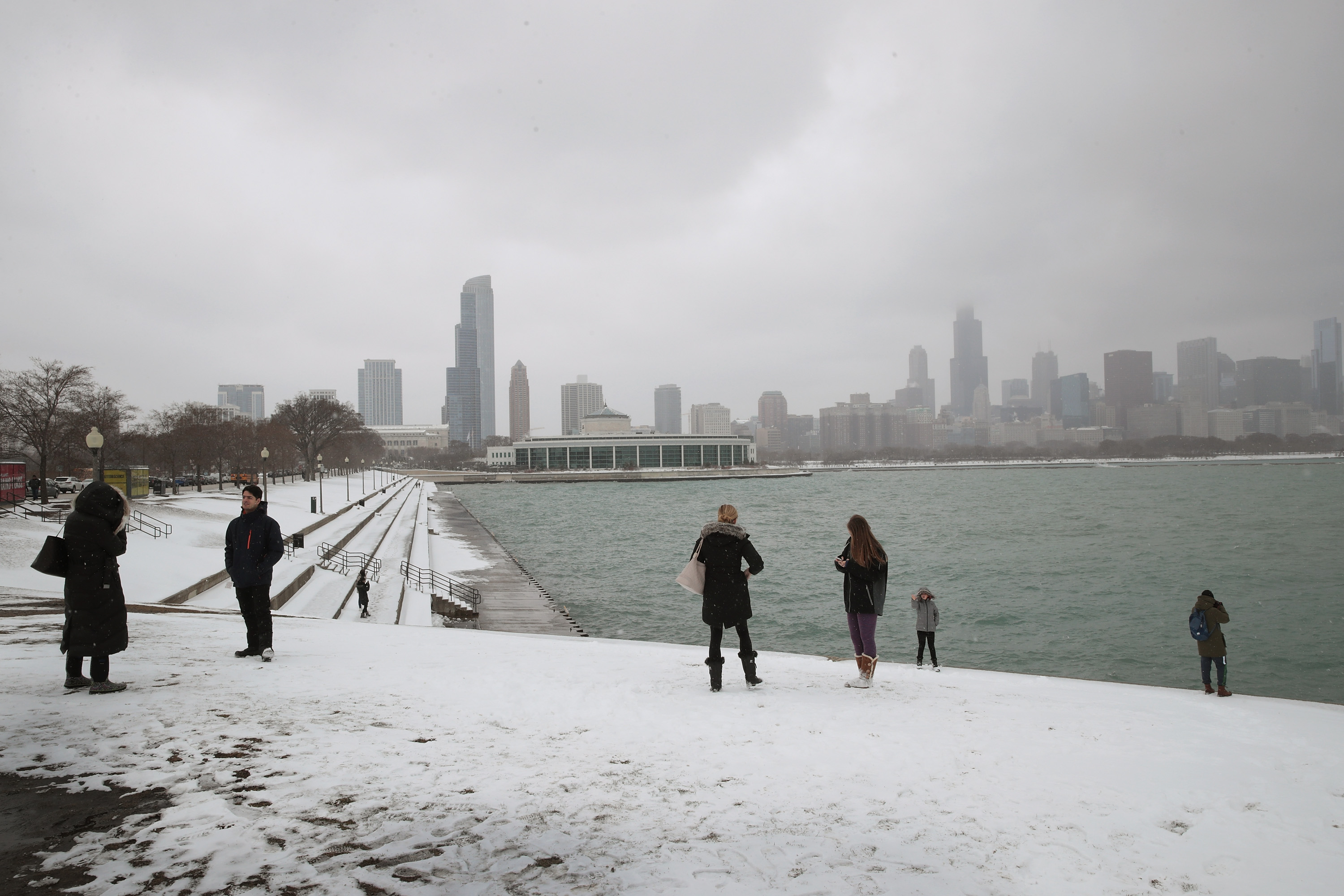 Chicago Hit With First Snow Storm Since December 2016