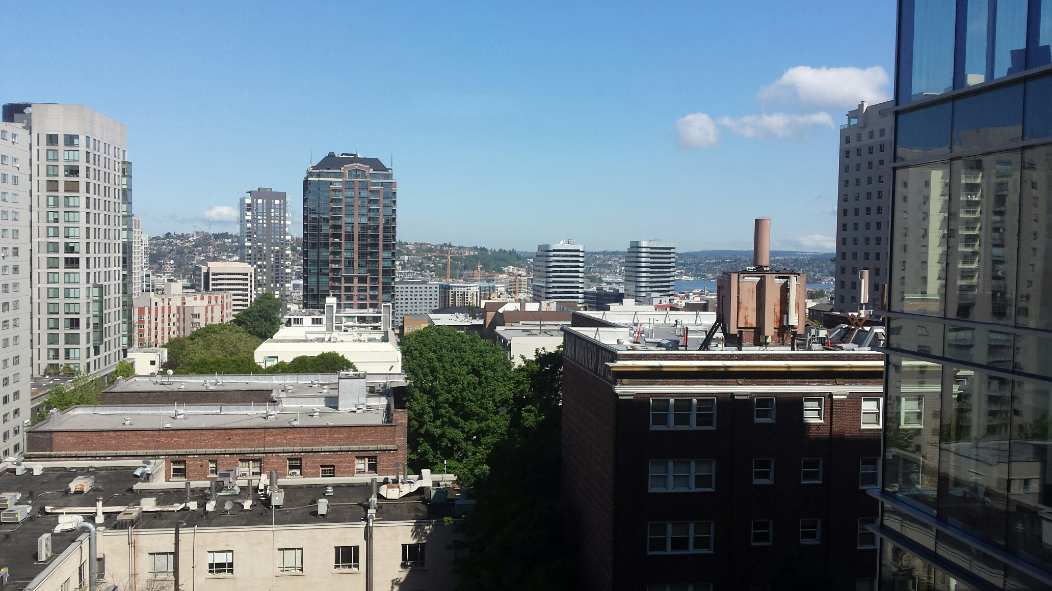 A view of South Lake Union and Downtown from the east