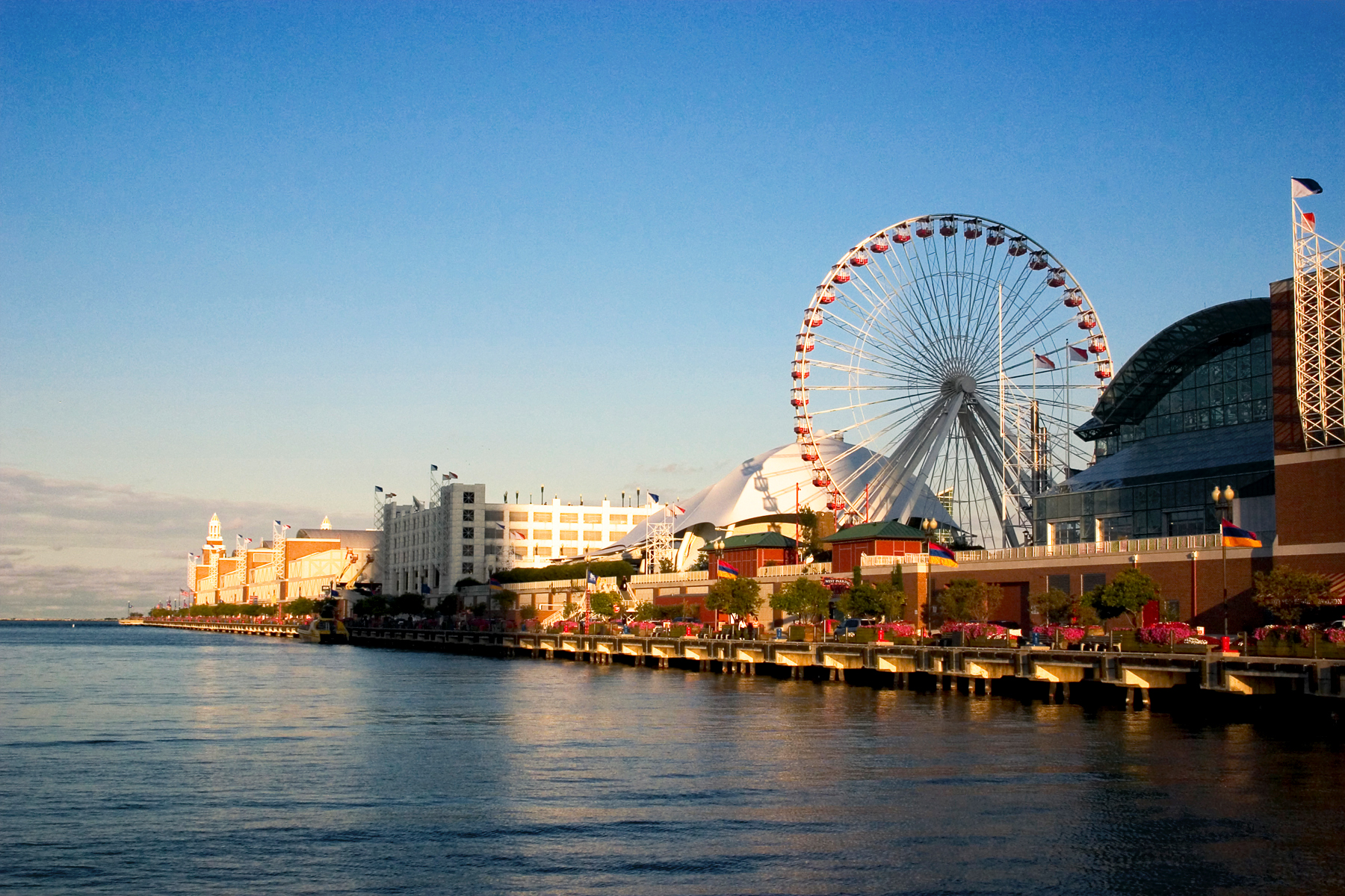 Navy Pier from the shoreline