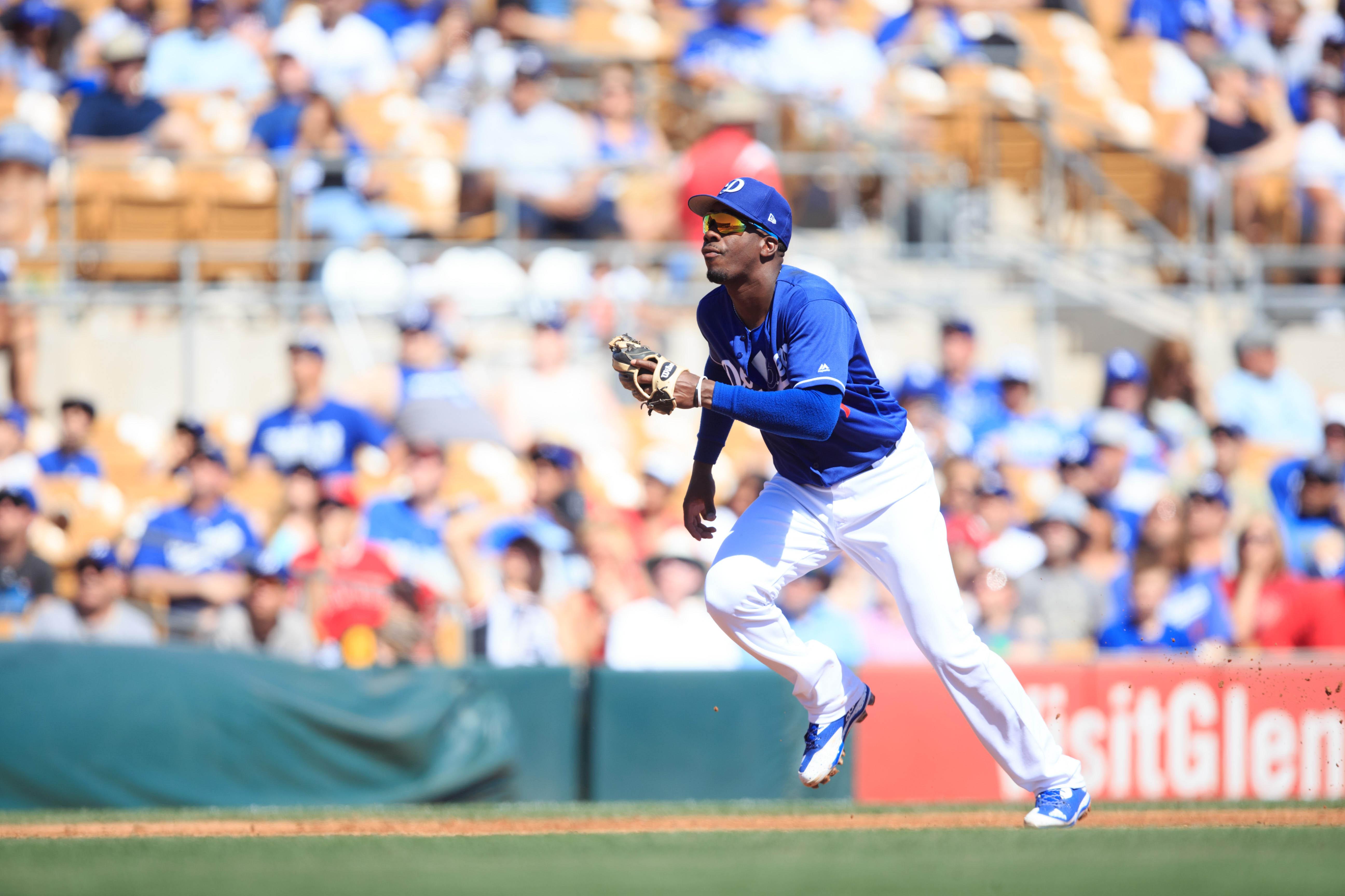 MLB: Spring Training-Los Angeles Angels at Los Angeles Dodgers