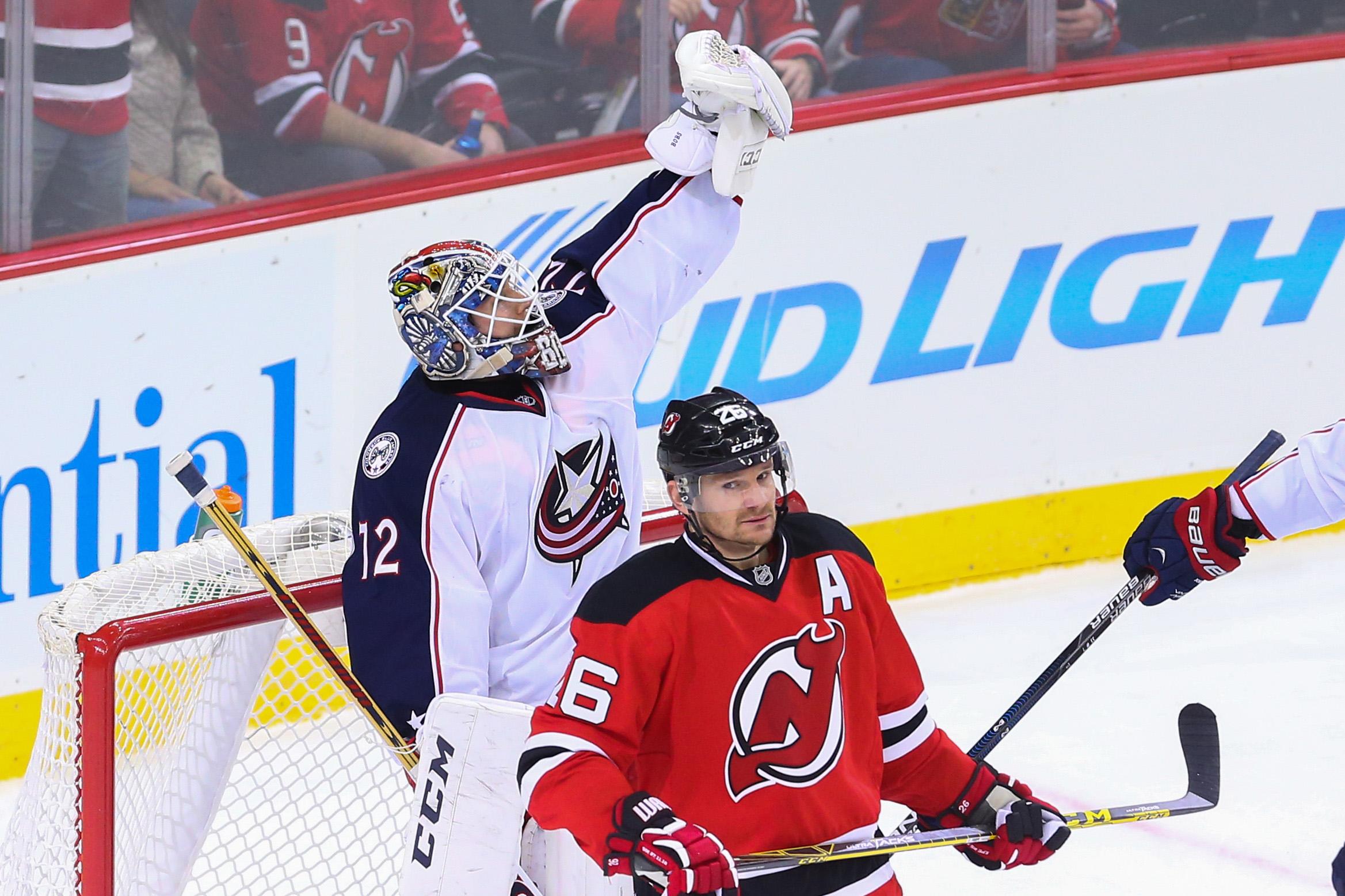NHL: Columbus Blue Jackets at New Jersey Devils