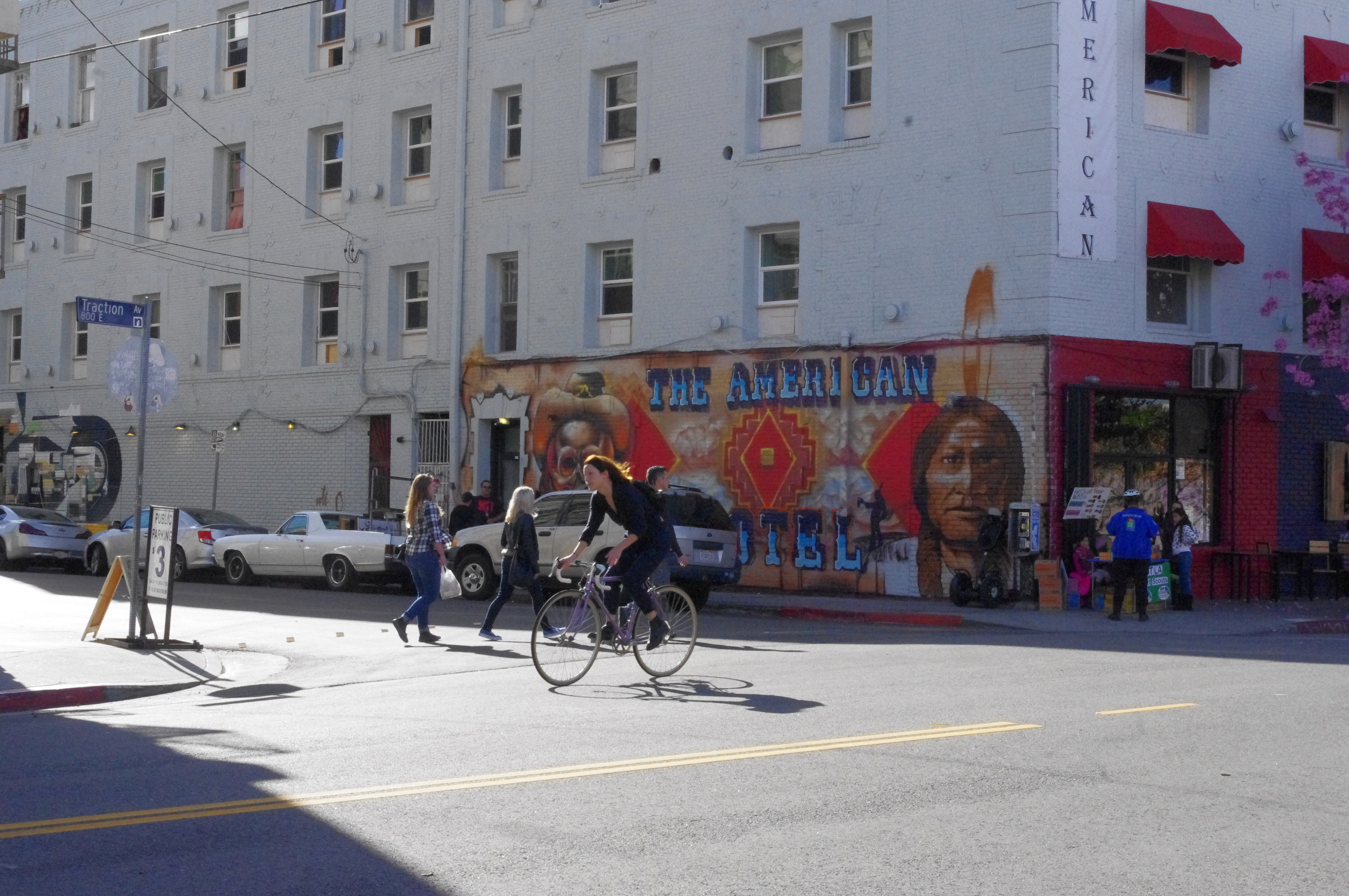 Bicyclist in the Arts District