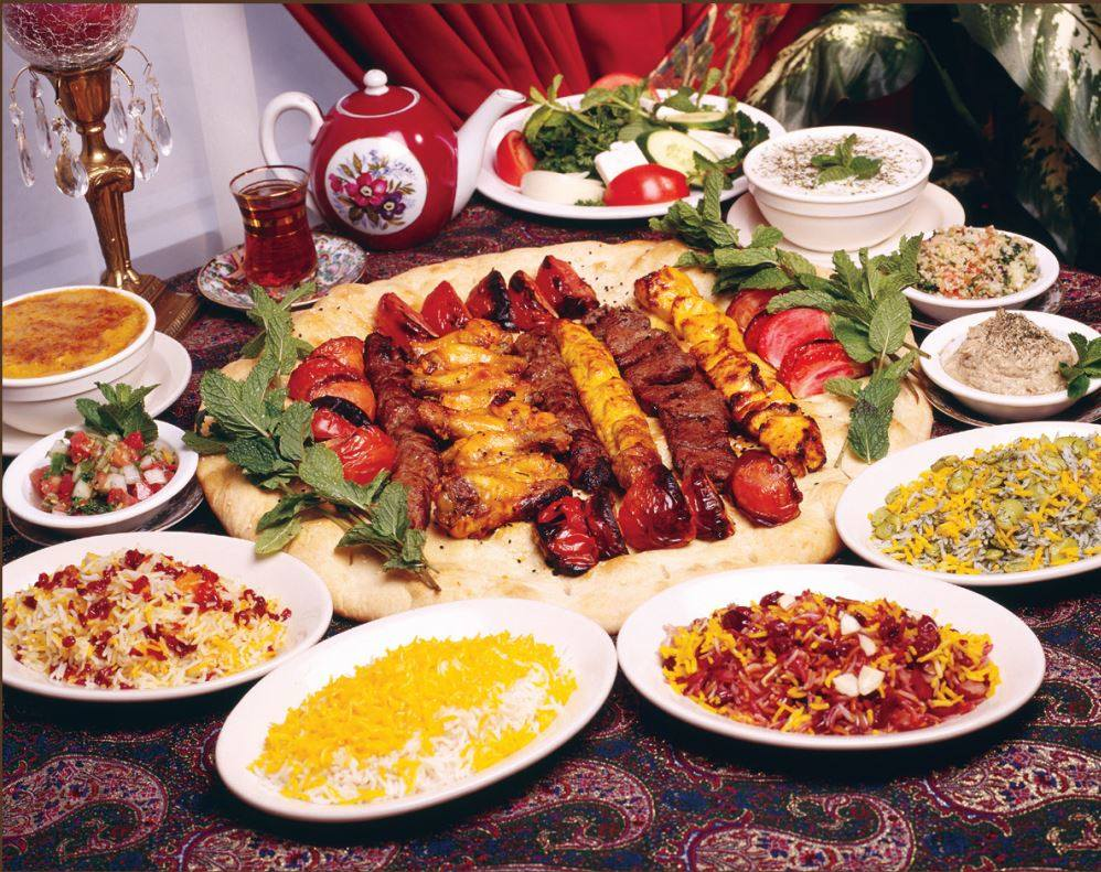 Dishes from Alborz Persian Cuisine