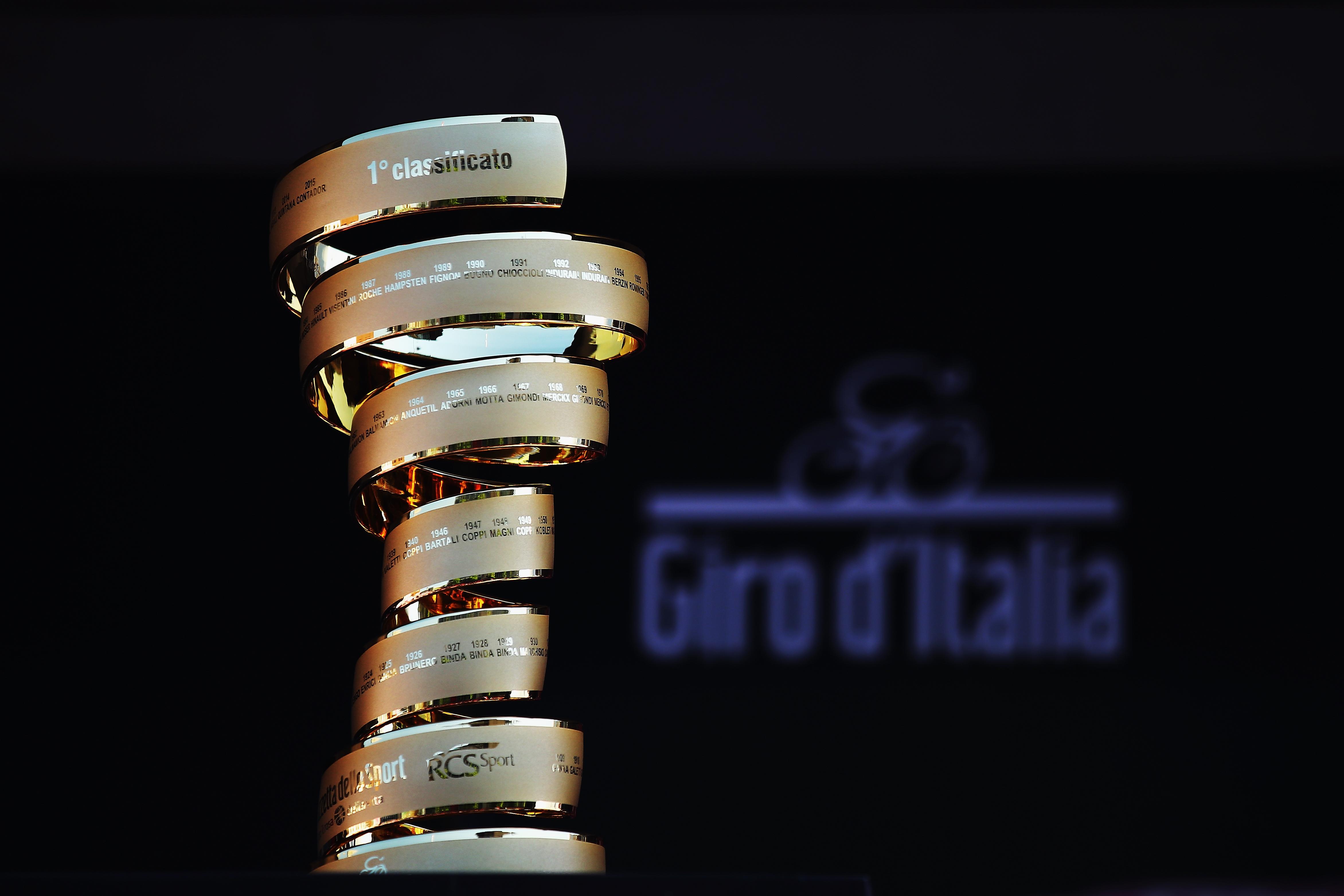The Trofeo Senza Fine, the Giro's never-ending trophy.