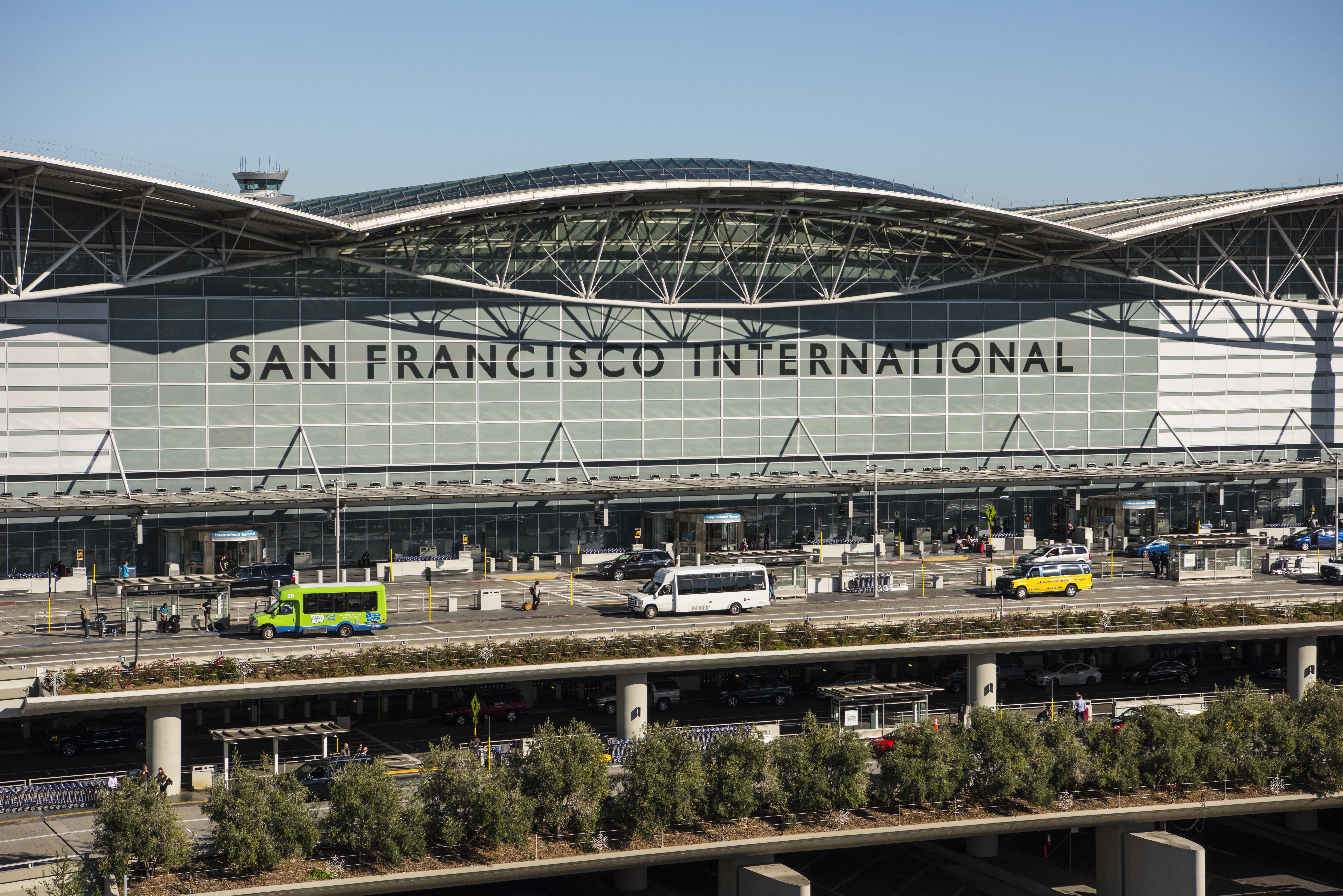 San Francisco International Airport exterior.