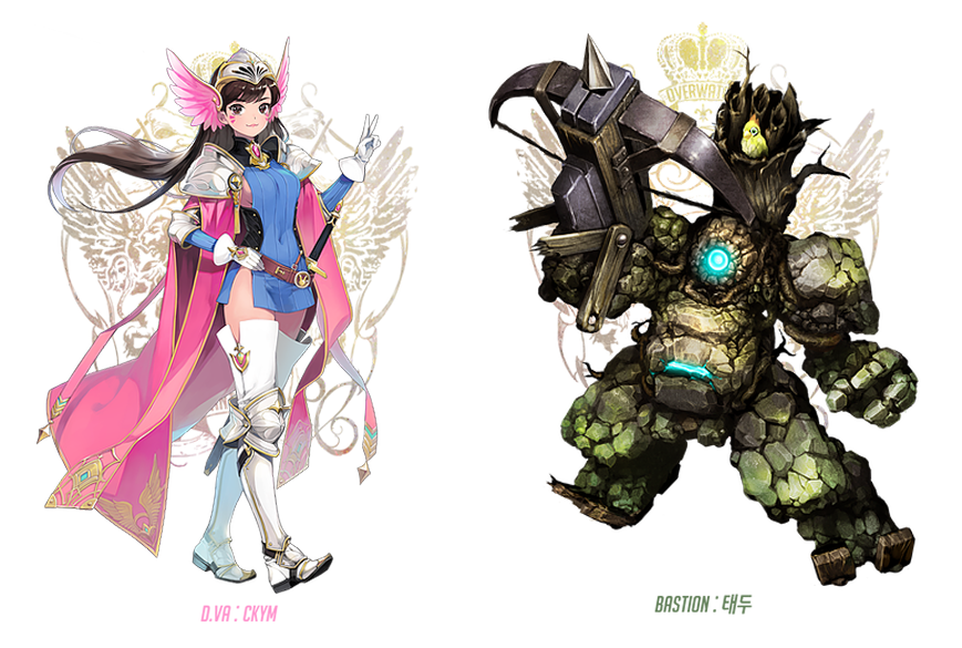 If Overwatch characters lived in Final Fantasy
