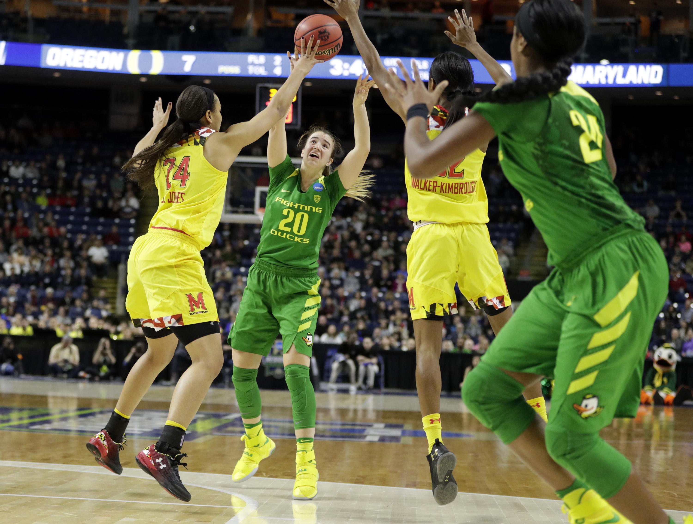 NCAA Womens Basketball: NCAA Tournament-Bridgeport Regional-Maryland vs Oregon