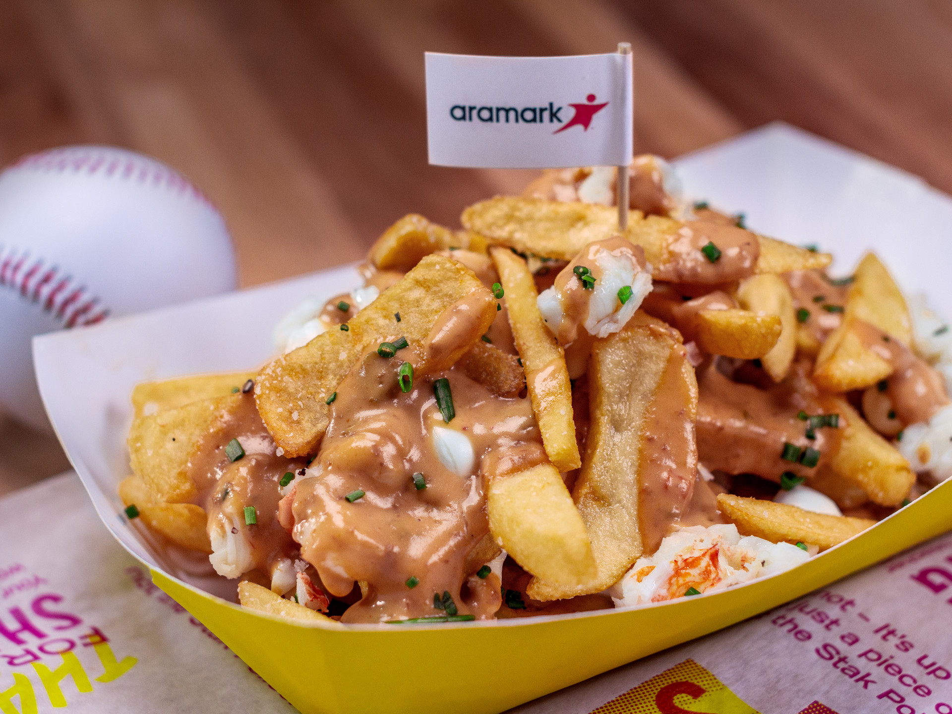"""Lobster poutine """"stak,"""" new this season at Fenway Park"""