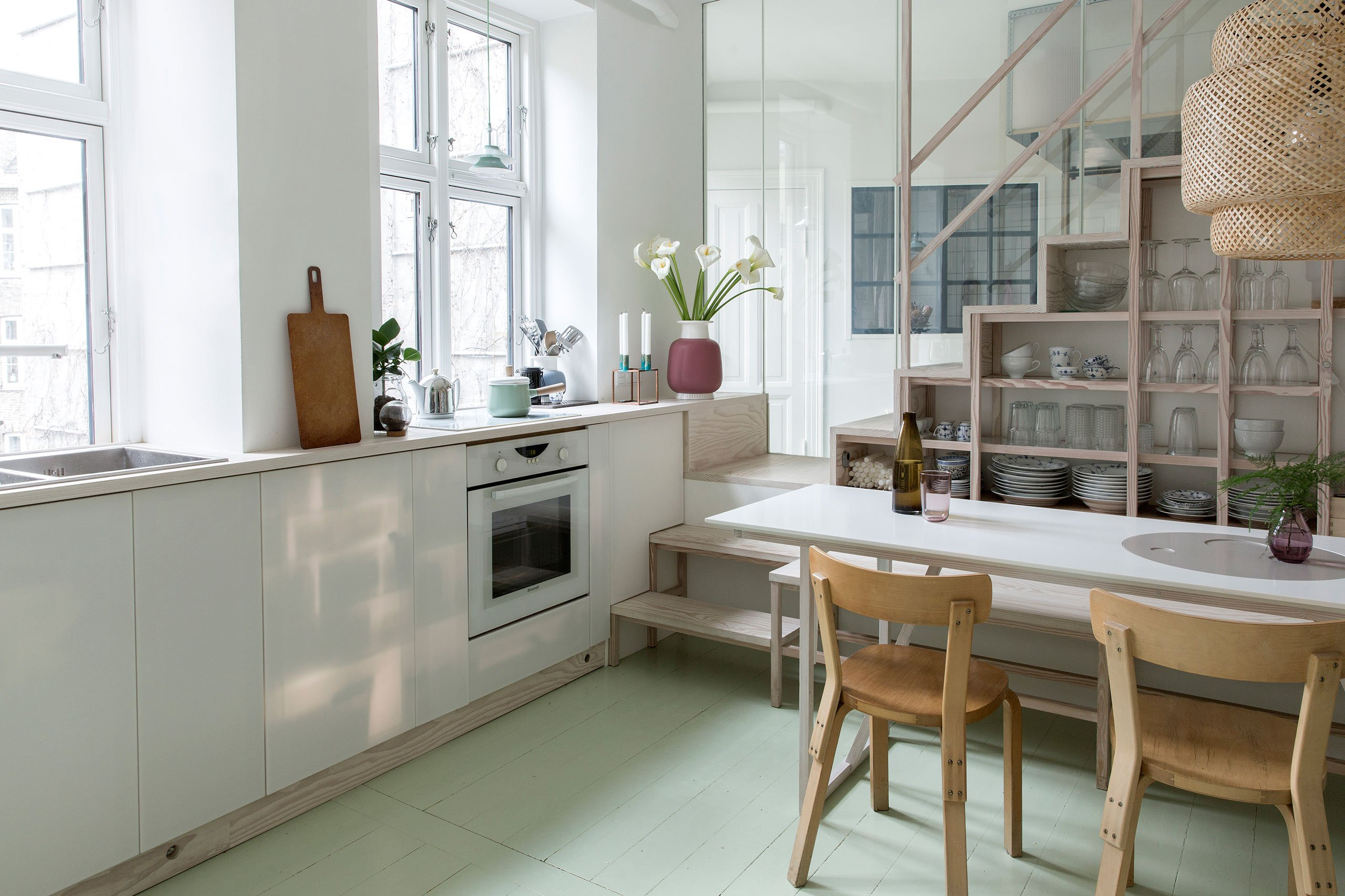 Clever space-saving solutions make this Copenhagen apartment more efficient
