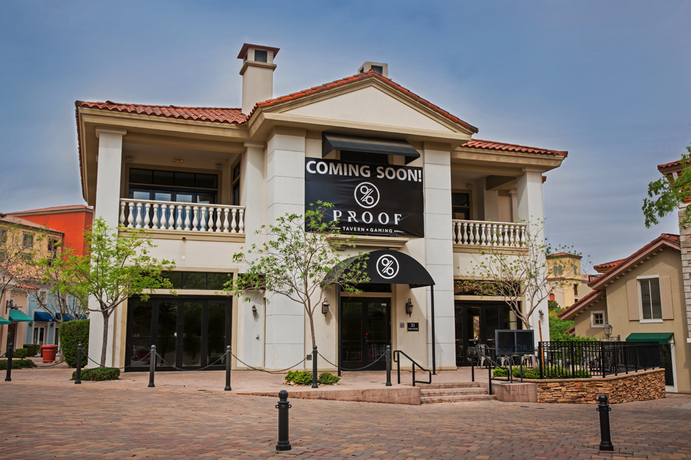 The exterior of the former Proof Tavern at Lake Las Vegas, soon to be turned into The Speakeasy.