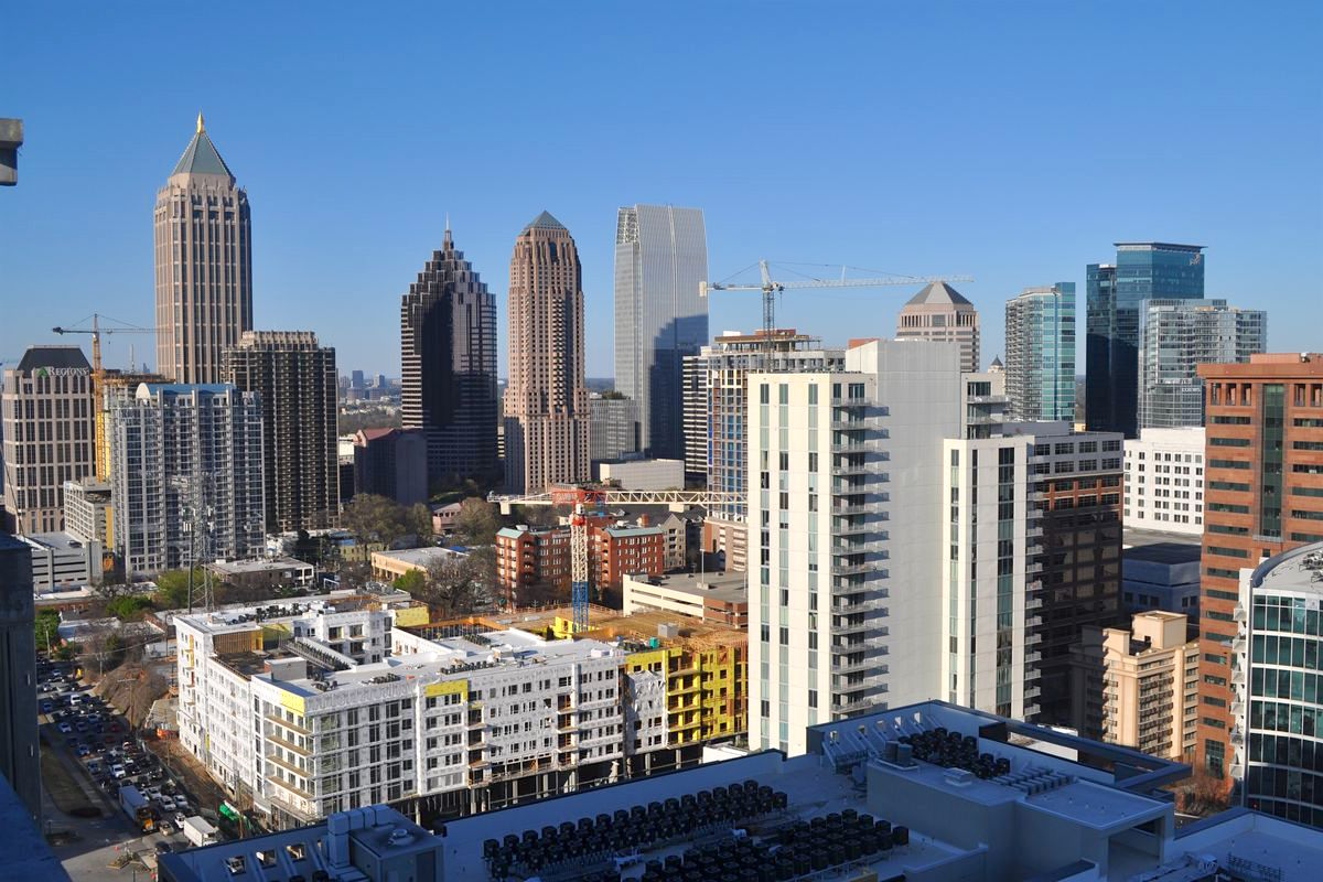 A picture of the growing Midtown Atlanta skyline taken this winter.