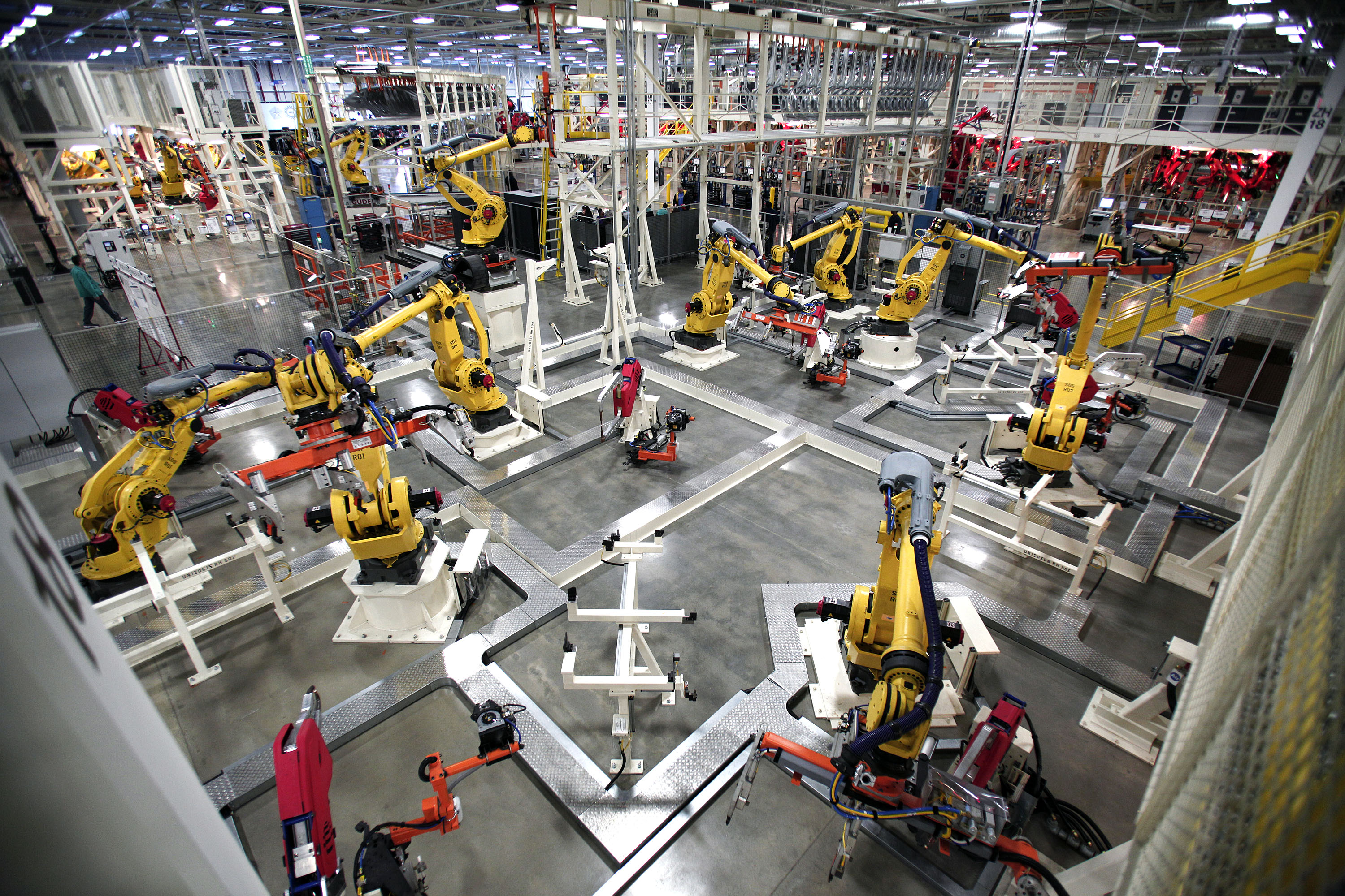 Six jobs are eliminated for every robot introduced into the