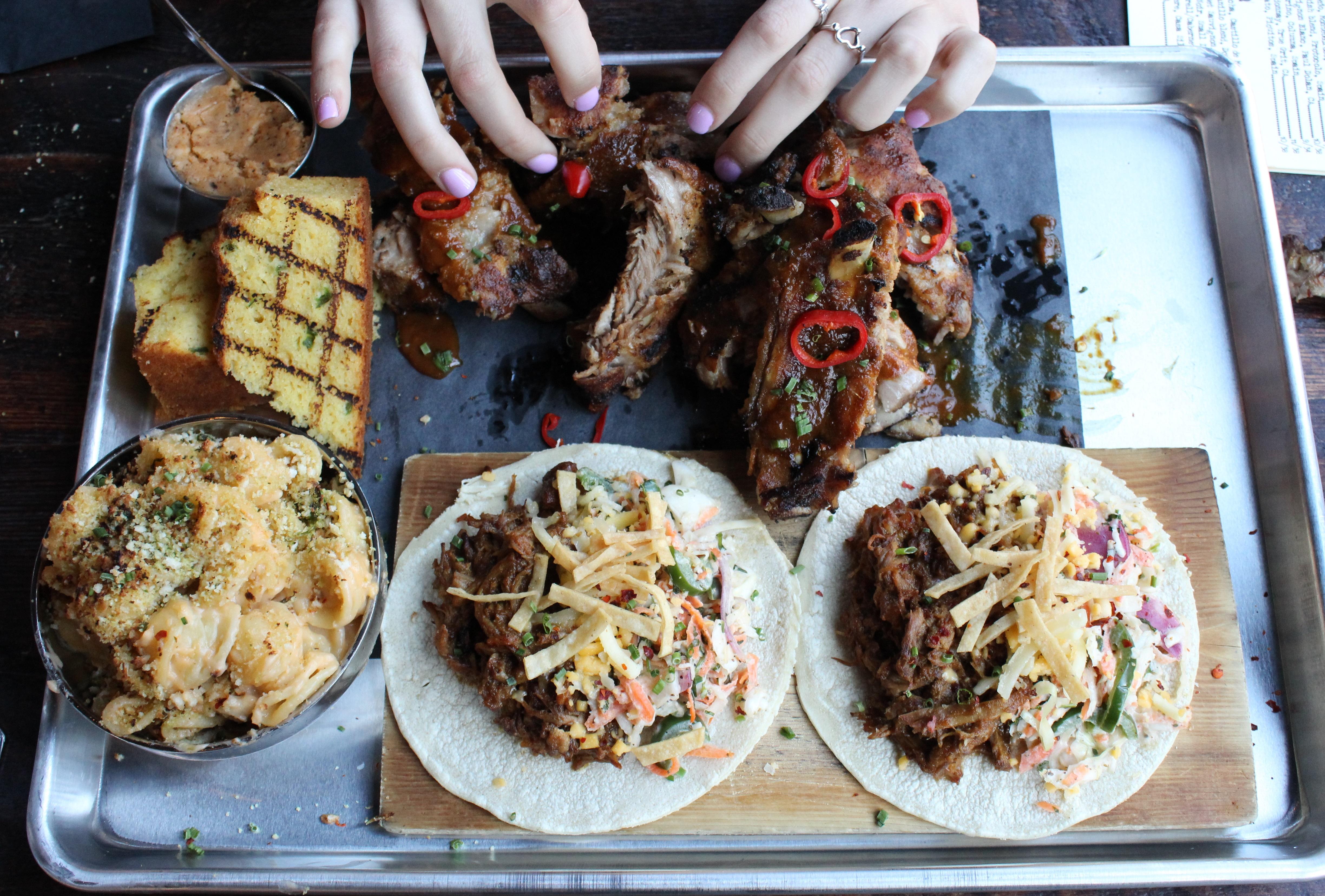 Loco's barbecue spread