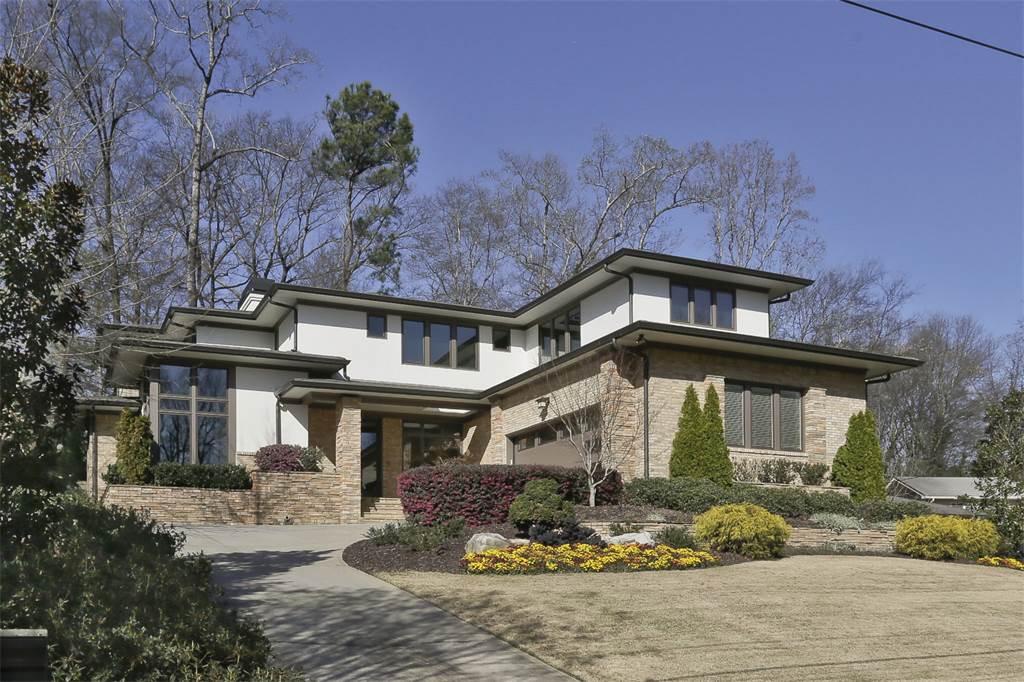 A prairie-style custom home in Atlanta's Morningside neighborhood.