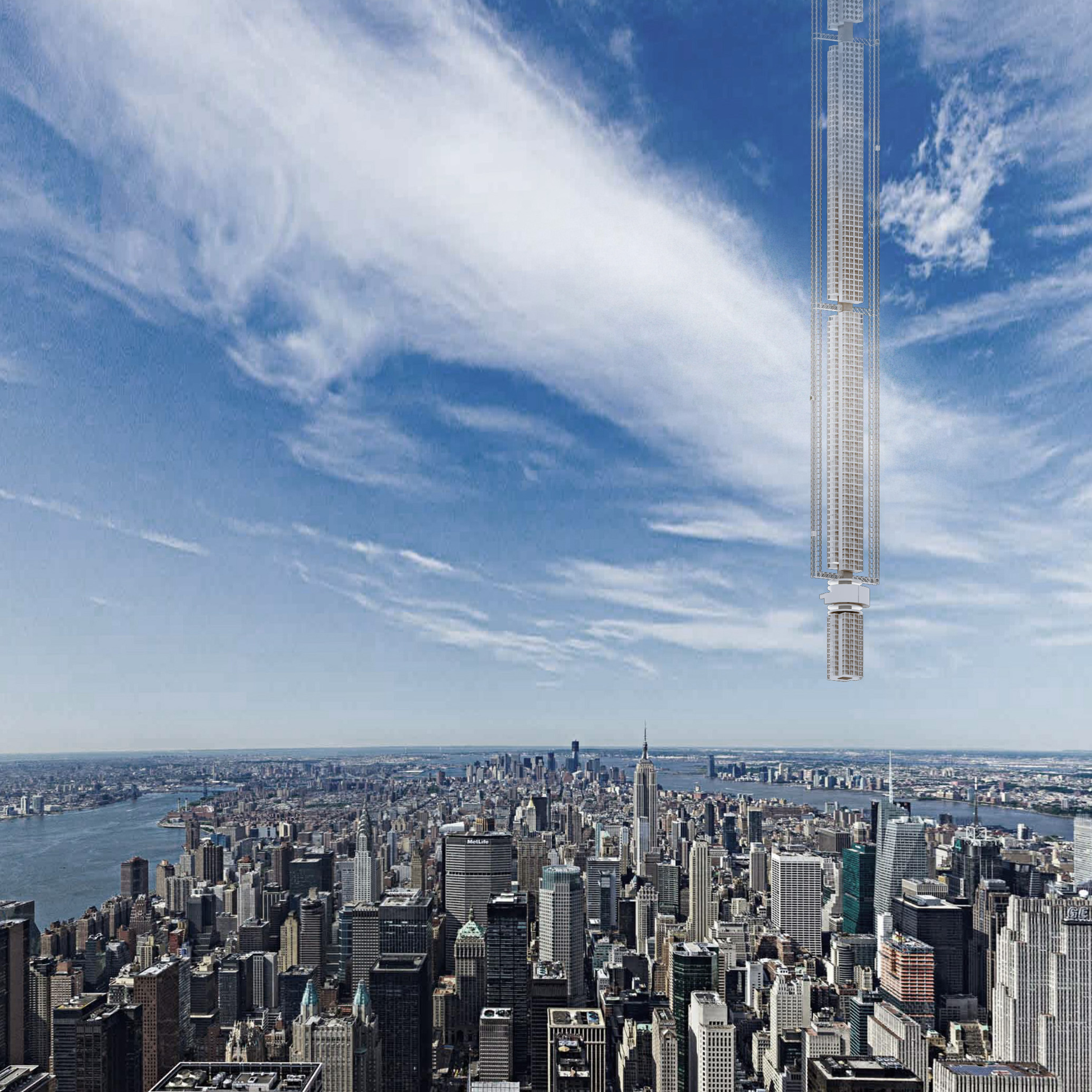 World's tallest building proposal hangs a megatall on an asteroid (seriously)