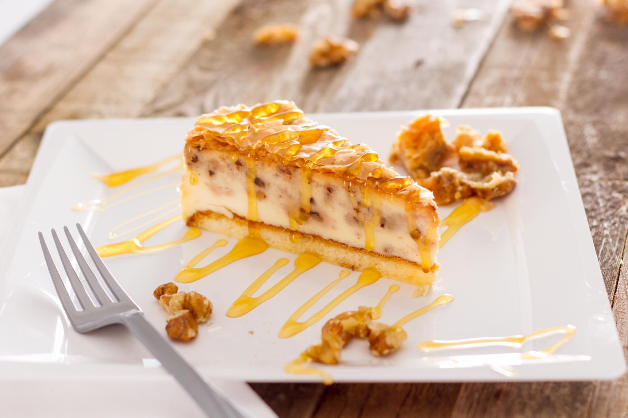Baklava cheesecake at The Simple Greek