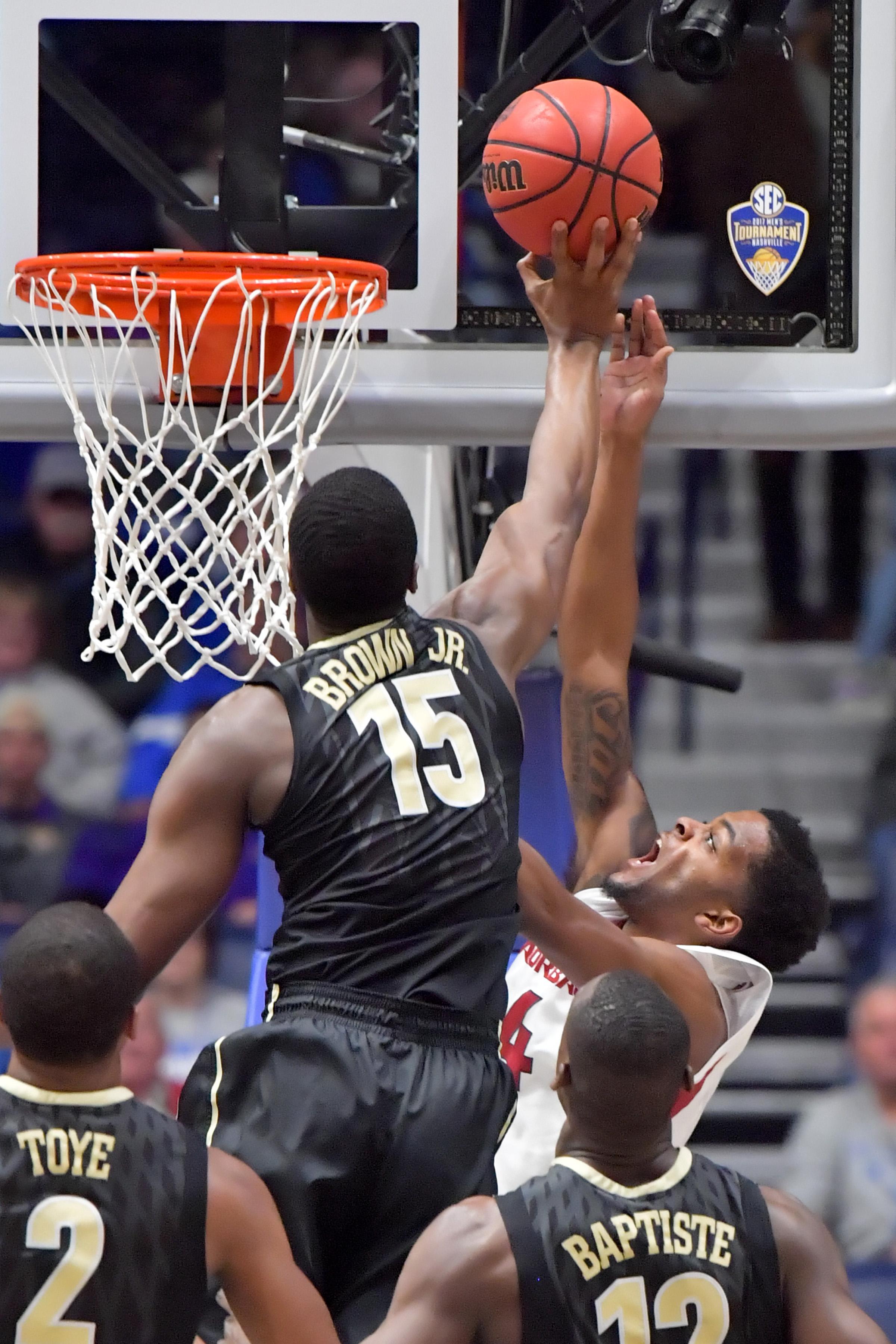 NCAA Basketball: SEC Tournament-Arkansas vs Vanderbilt