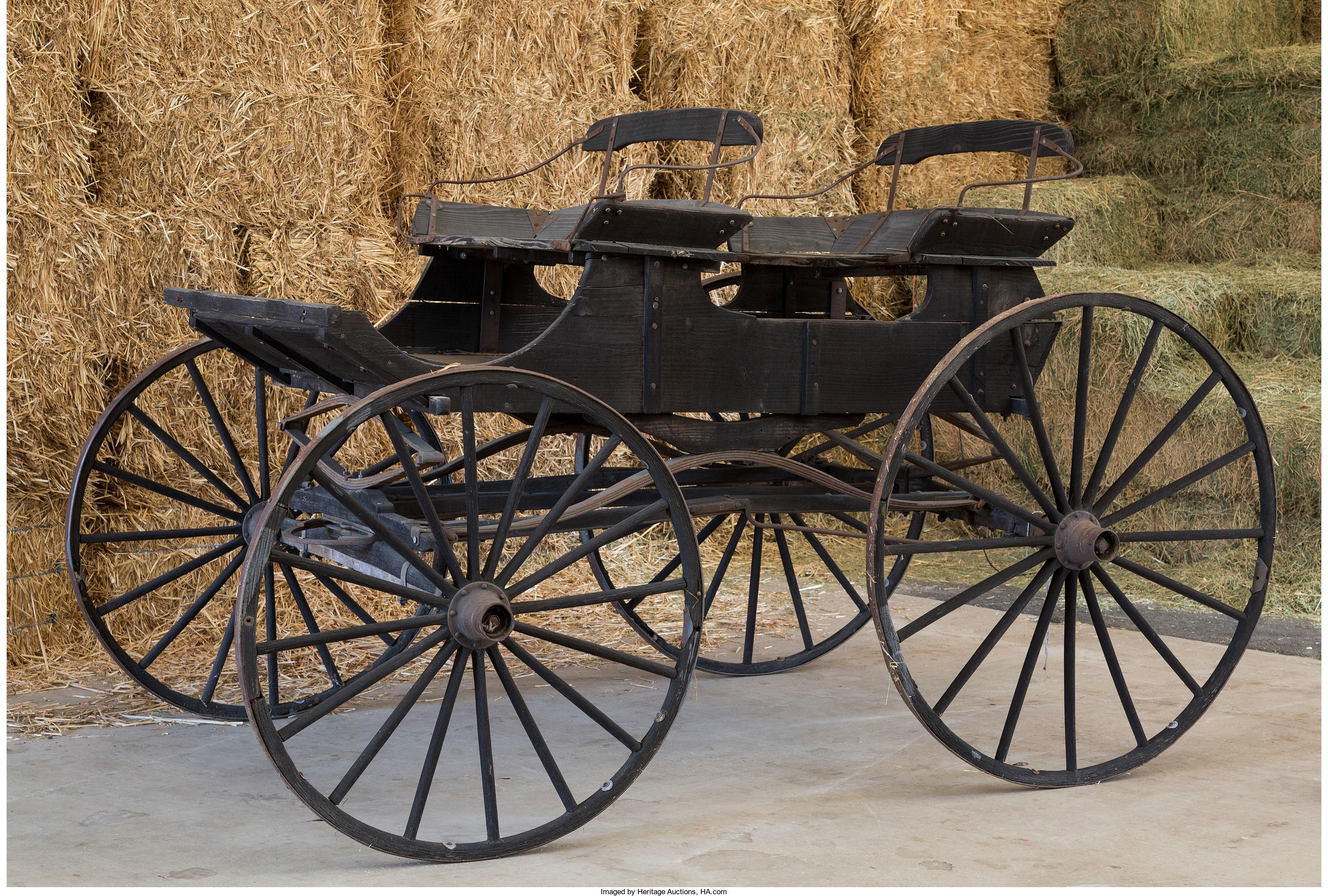 Vintage wooden carriage
