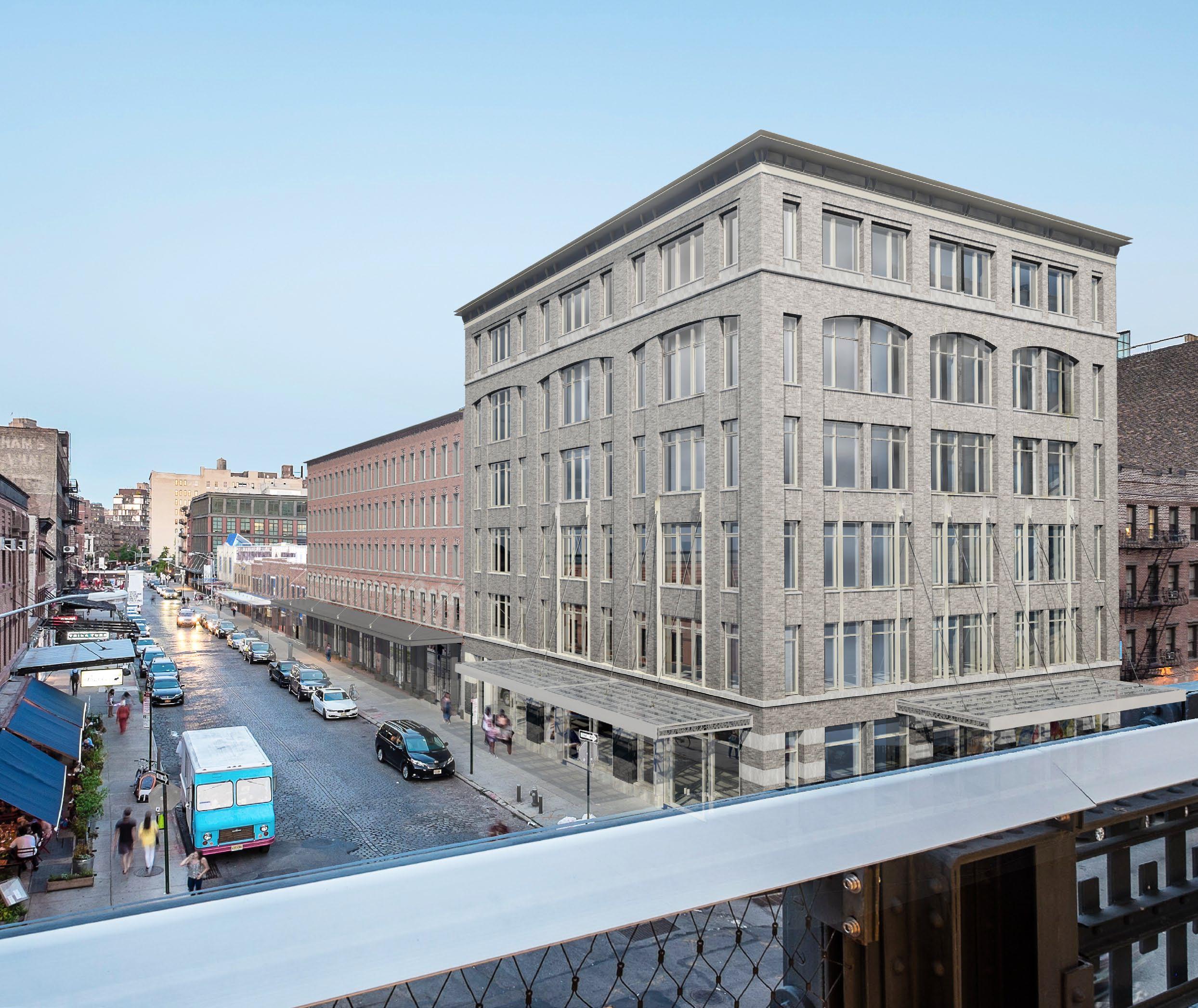 Rendering of the redeveloped 46-74 Gansevoort Street
