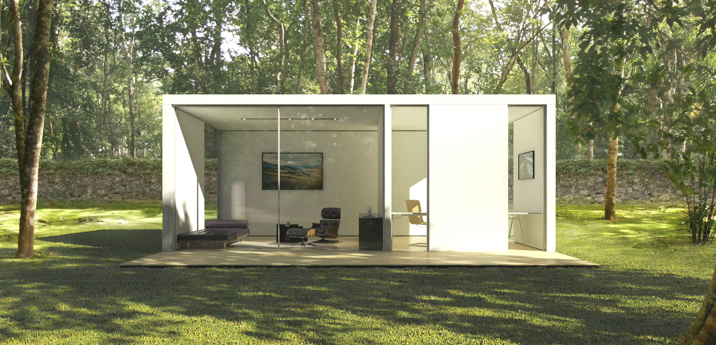 These modern prefab homes were designed by computer algorithms