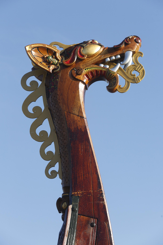 The World's Largest Viking Ship, Draken Harald Harfagre Docks In NYC