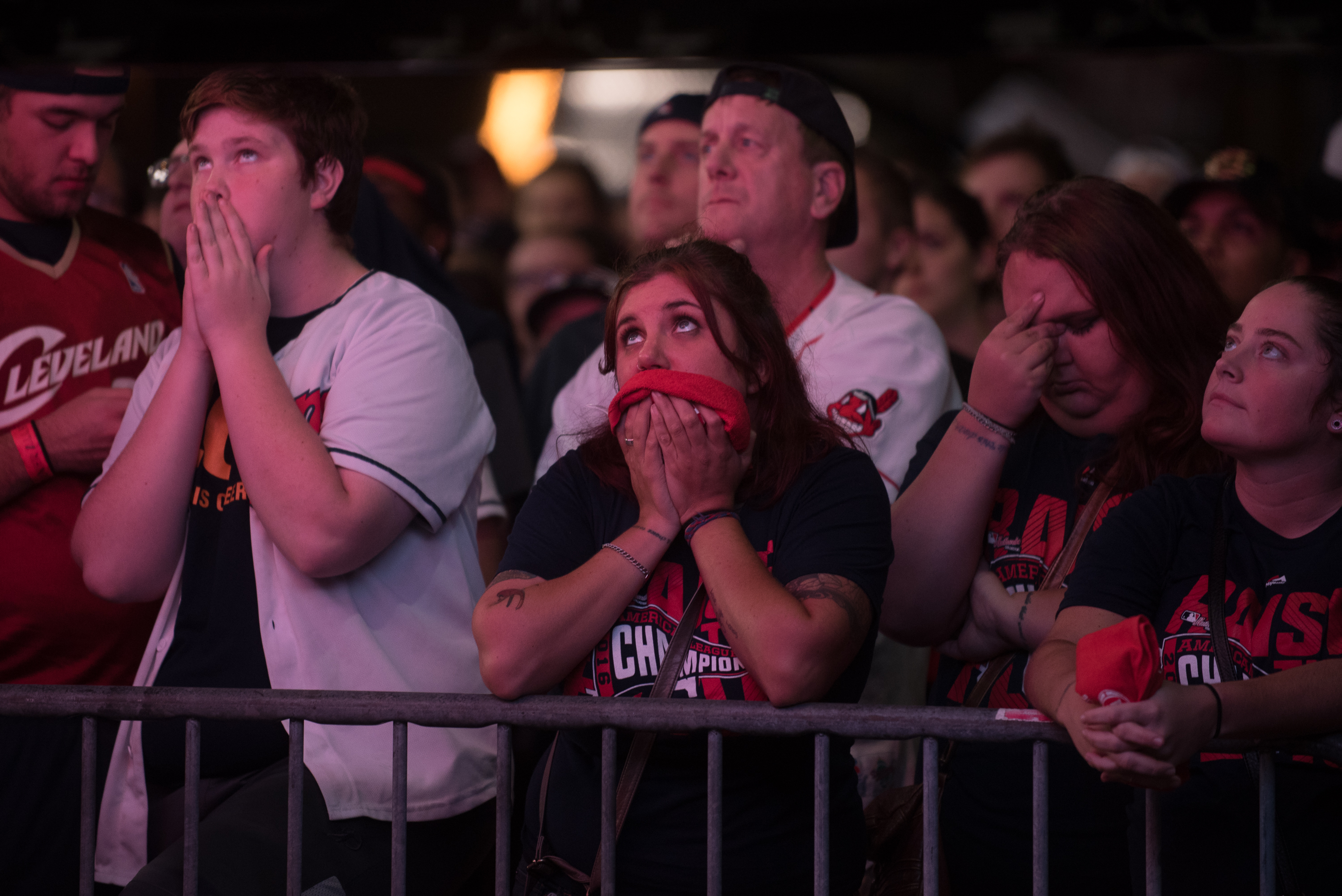 Cleveland Indians Fans Gather To The Final Game Of World Series Against The Chicago Cubs