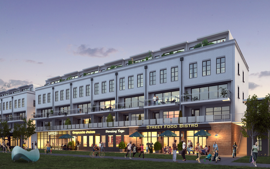 A new retail and townhouse venture on the Beltline in Old Fourth Ward.