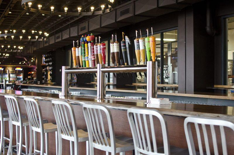 Harpoon's beer hall (inside)