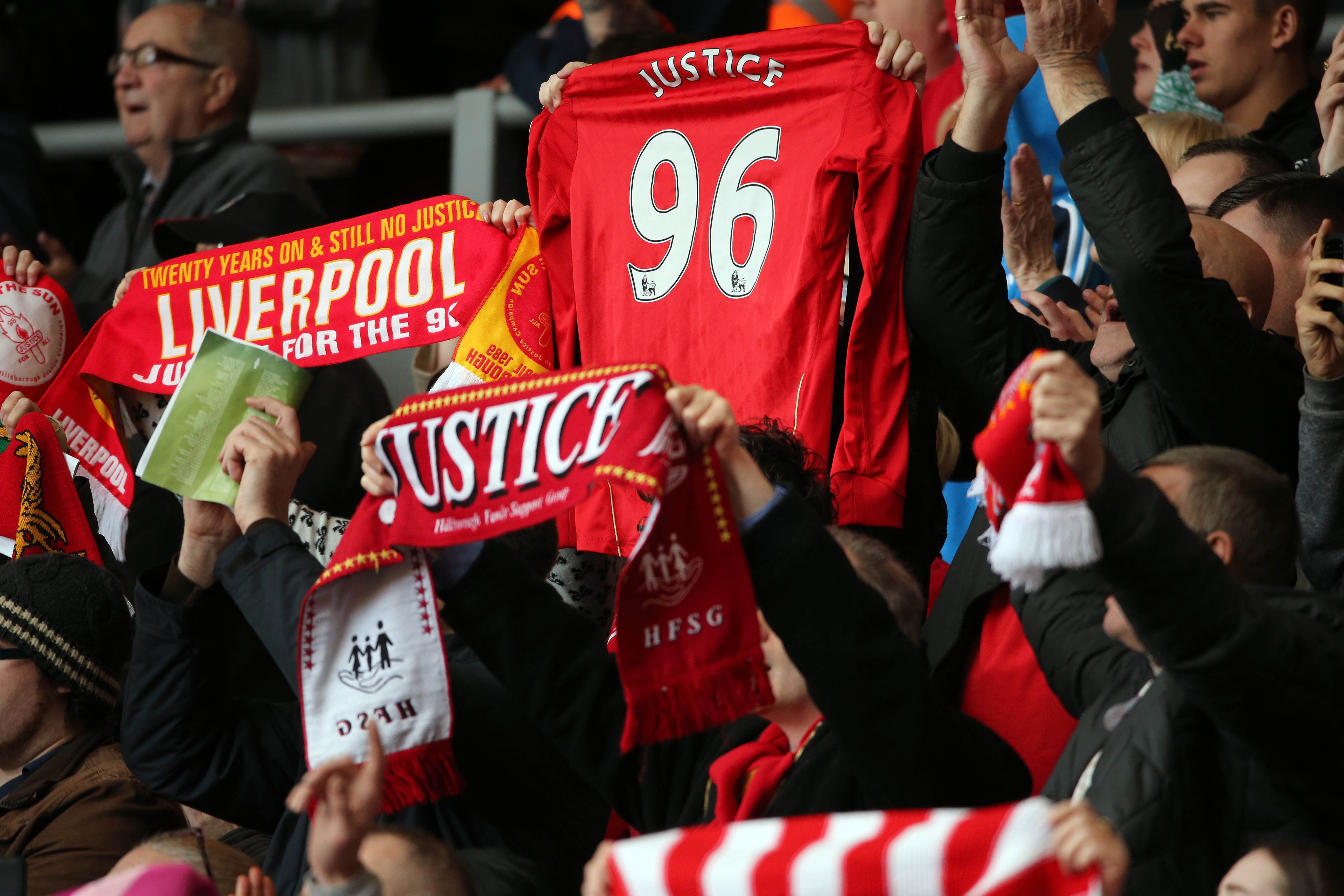 A Memorial Is Held For The 24th Anniversary Of The Hillsborough Tragedy