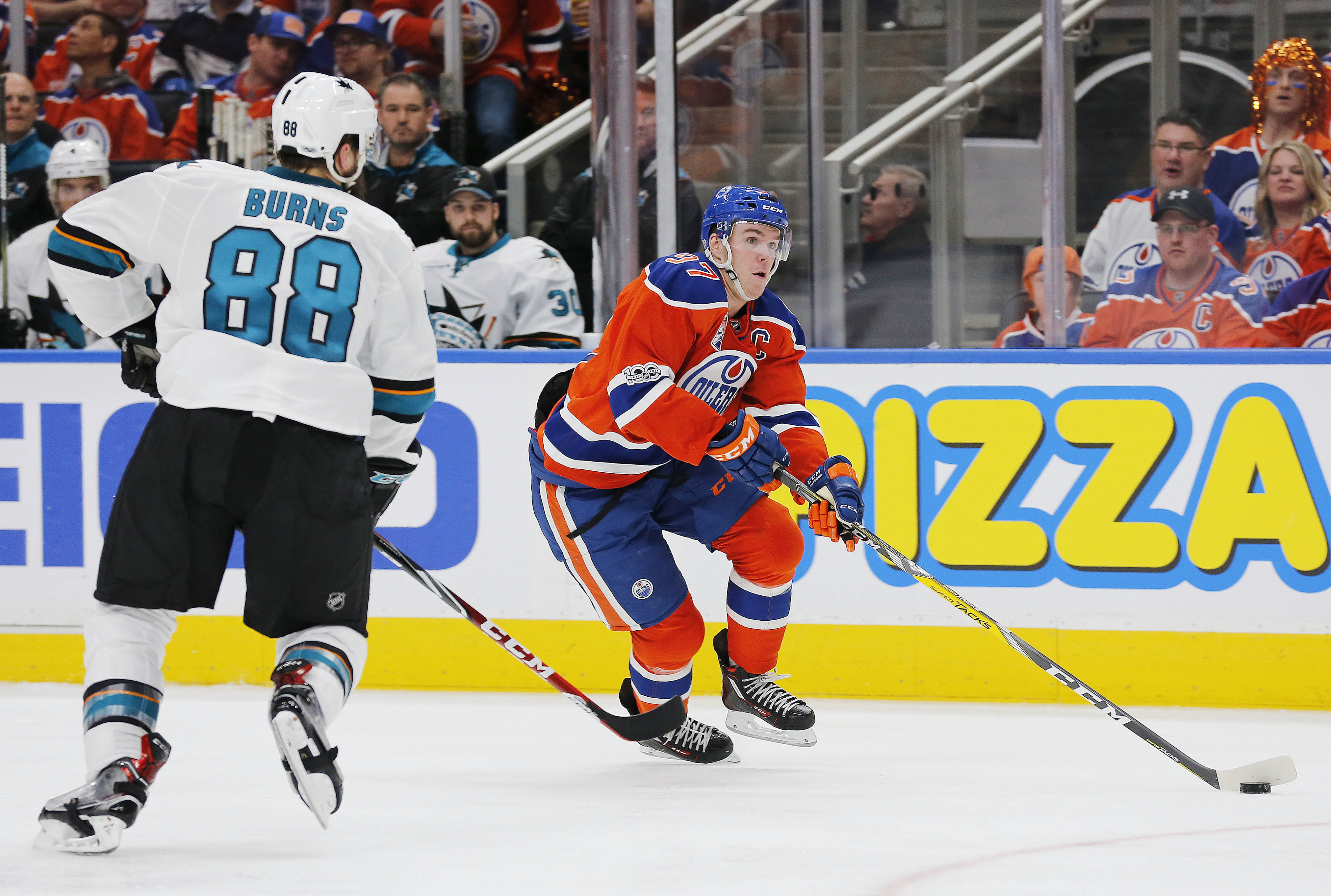 NHL: Stanley Cup Playoffs-San Jose Sharks at Edmonton Oilers